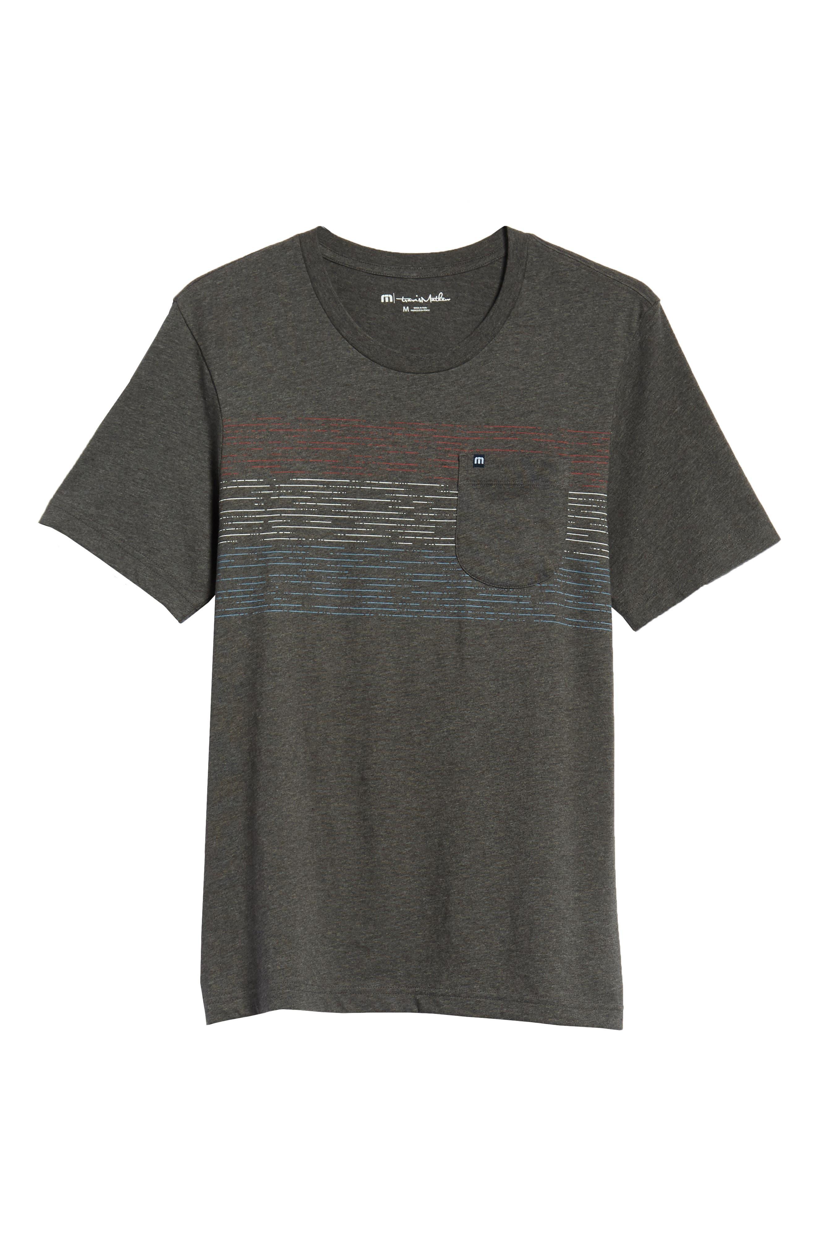 Flogging Print Pocket T-Shirt,                             Alternate thumbnail 6, color,