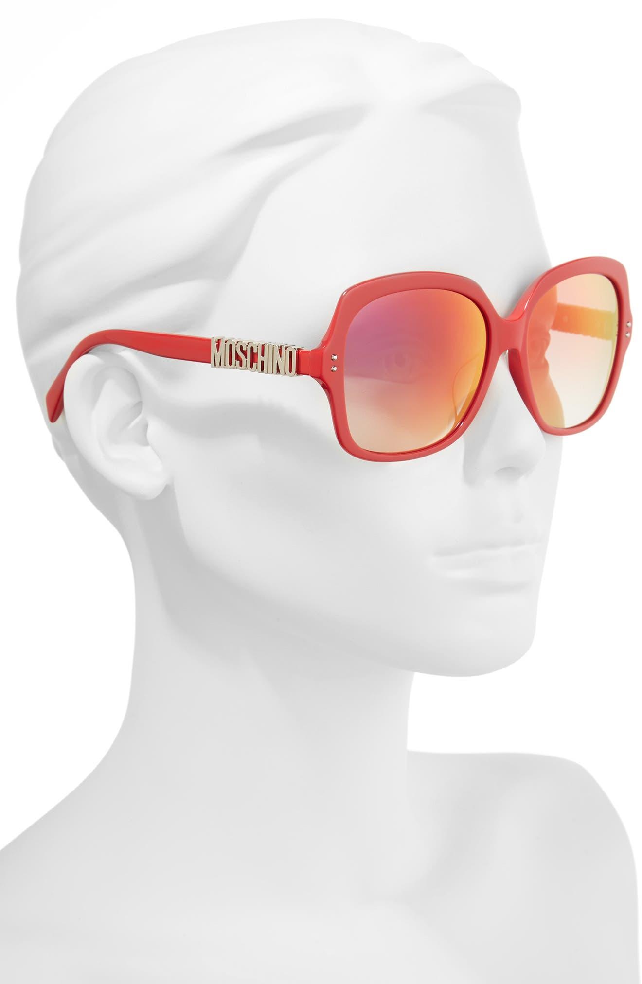 57mm Oversized Polarized Sunglasses,                             Alternate thumbnail 8, color,