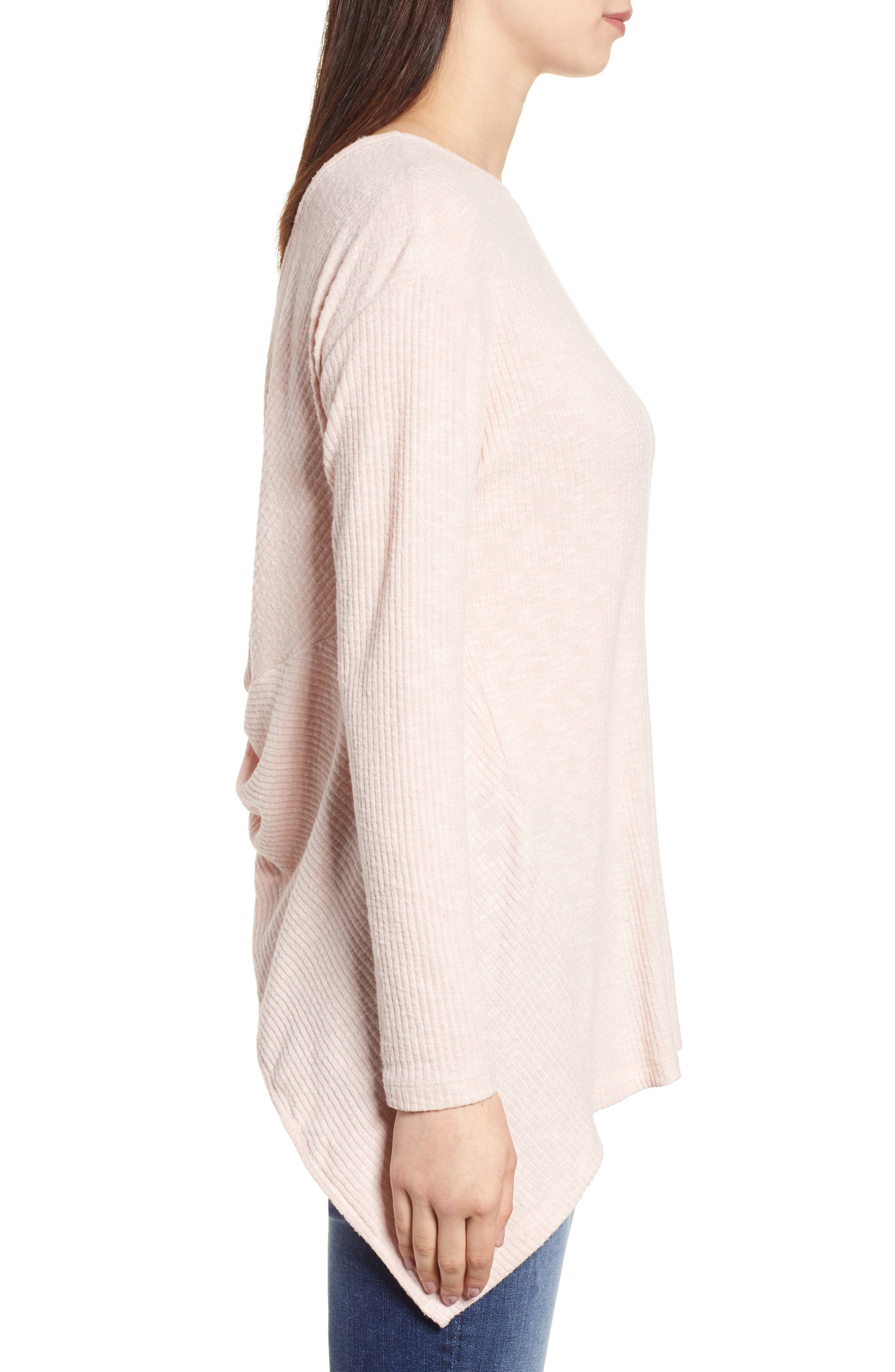 Ribbed Cozy Fleece Twist Back Top,                             Alternate thumbnail 11, color,