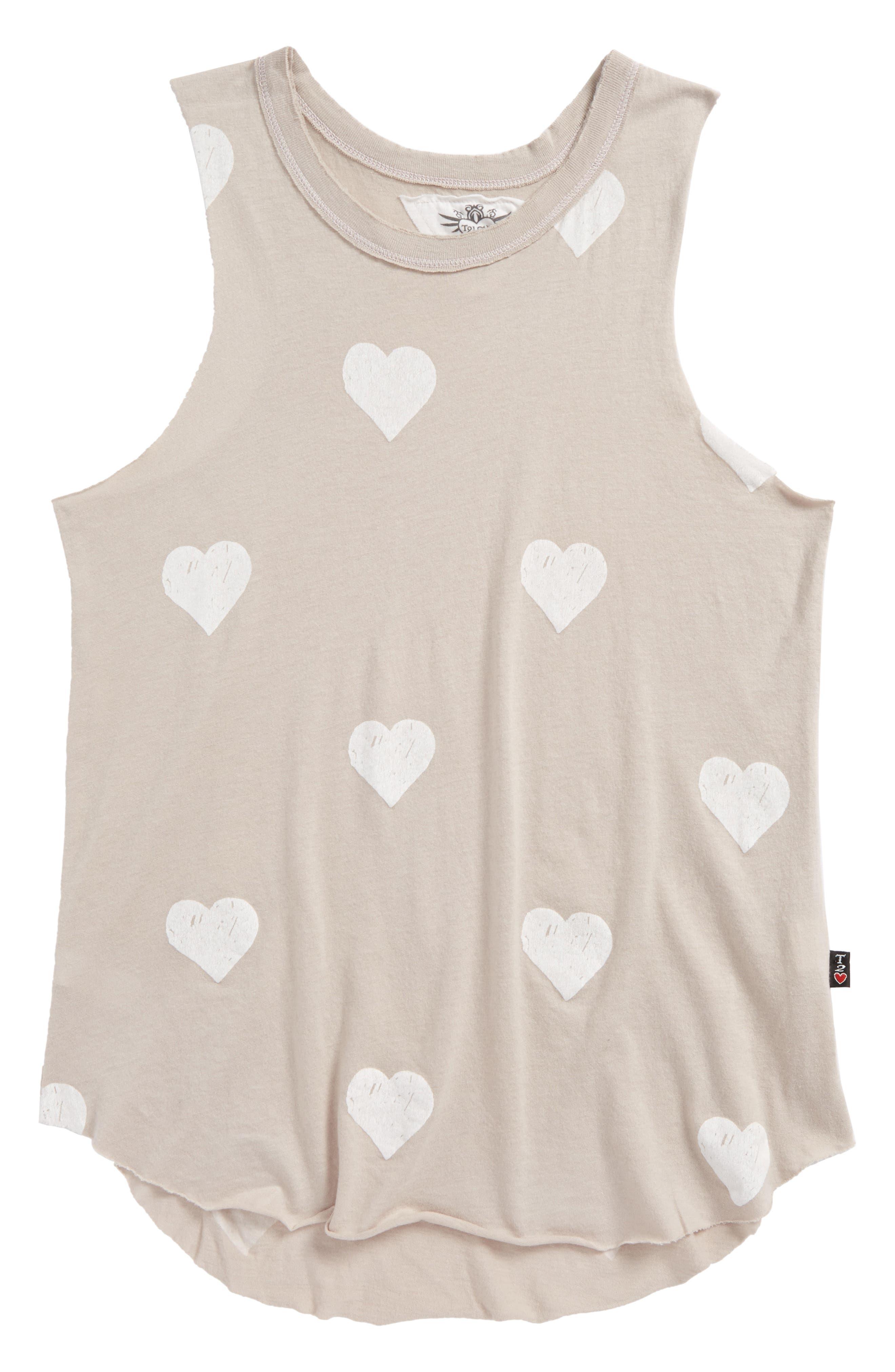 Heart Print Muscle Tank,                         Main,                         color, 250