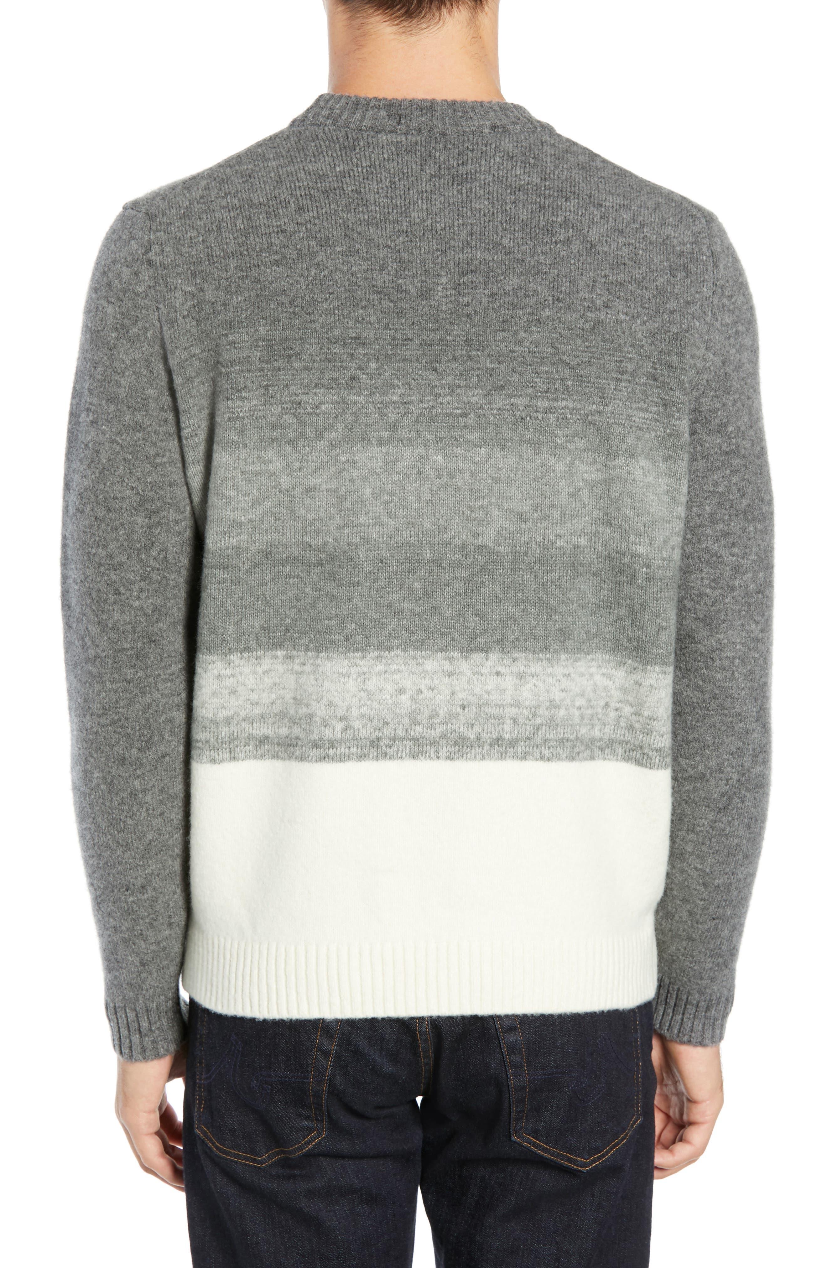 Ecardo Dégradé Virgin Wool Blend Sweater,                             Alternate thumbnail 2, color,                             GREY
