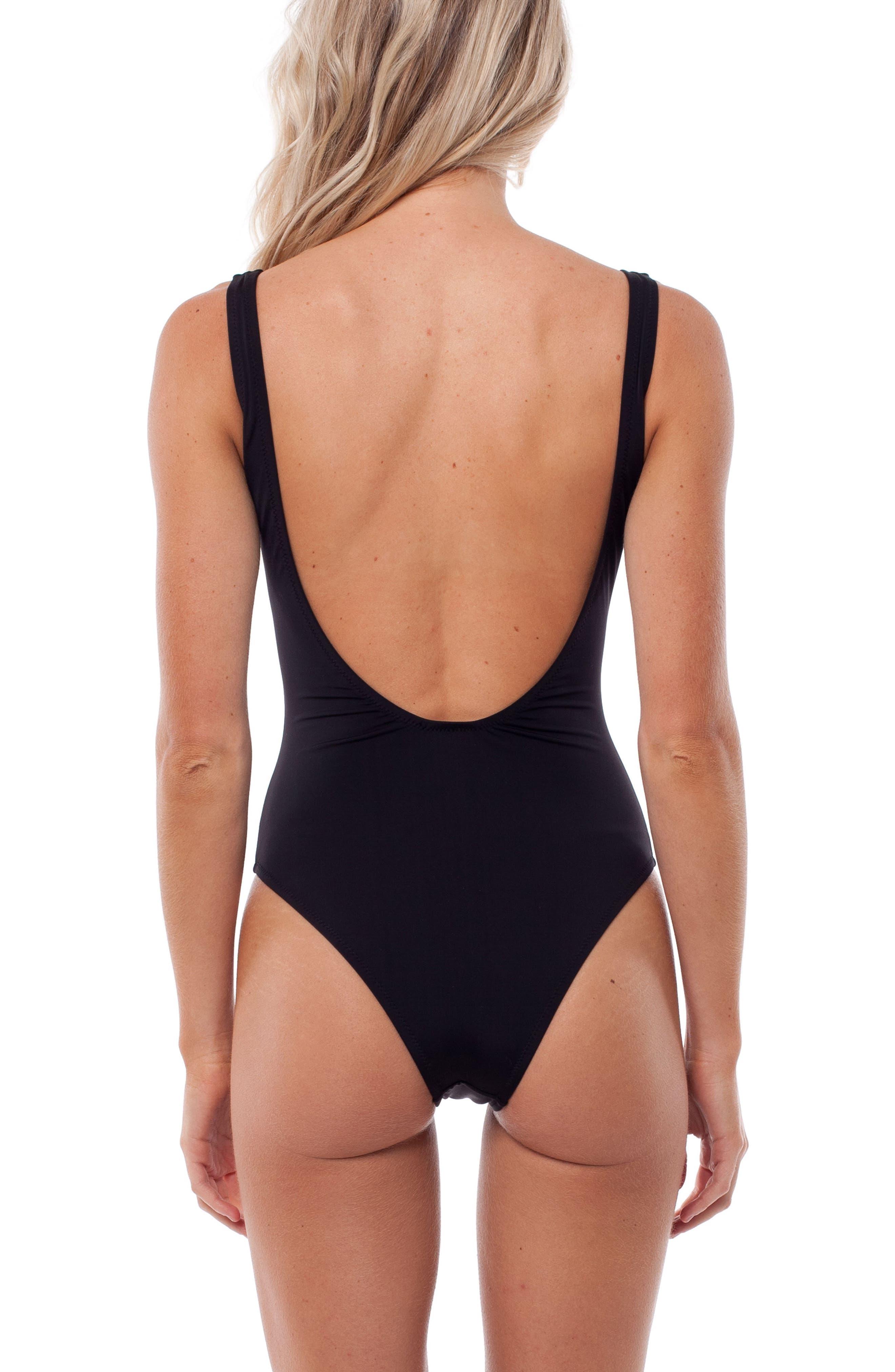 Gidget One-Piece Swimsuit,                             Alternate thumbnail 2, color,                             001