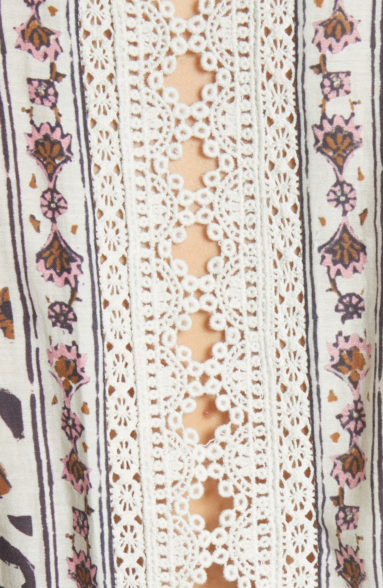Rosalie Crochet Tier Dress,                             Alternate thumbnail 5, color,