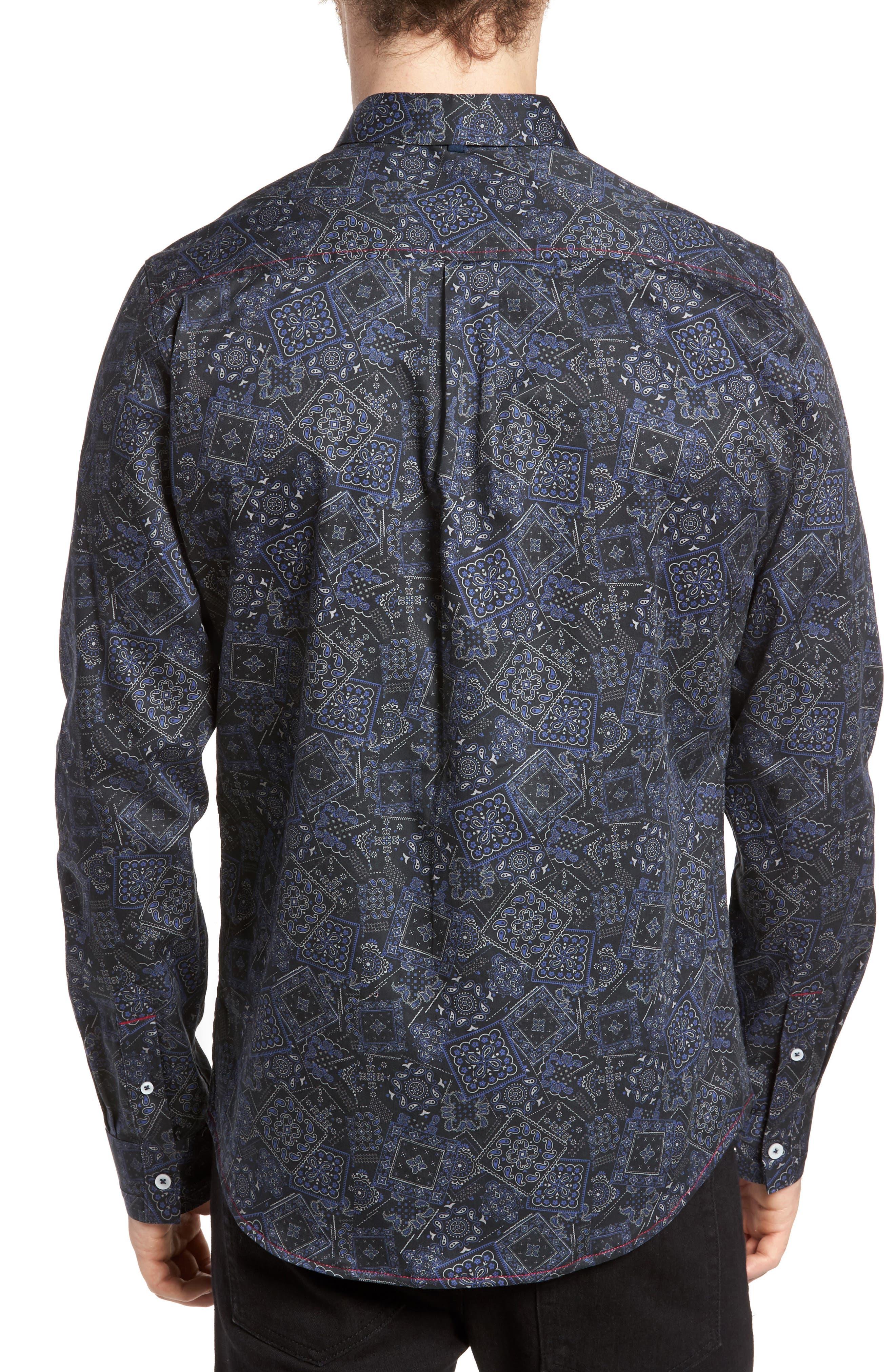 Bandana Woven Shirt,                             Alternate thumbnail 2, color,                             400