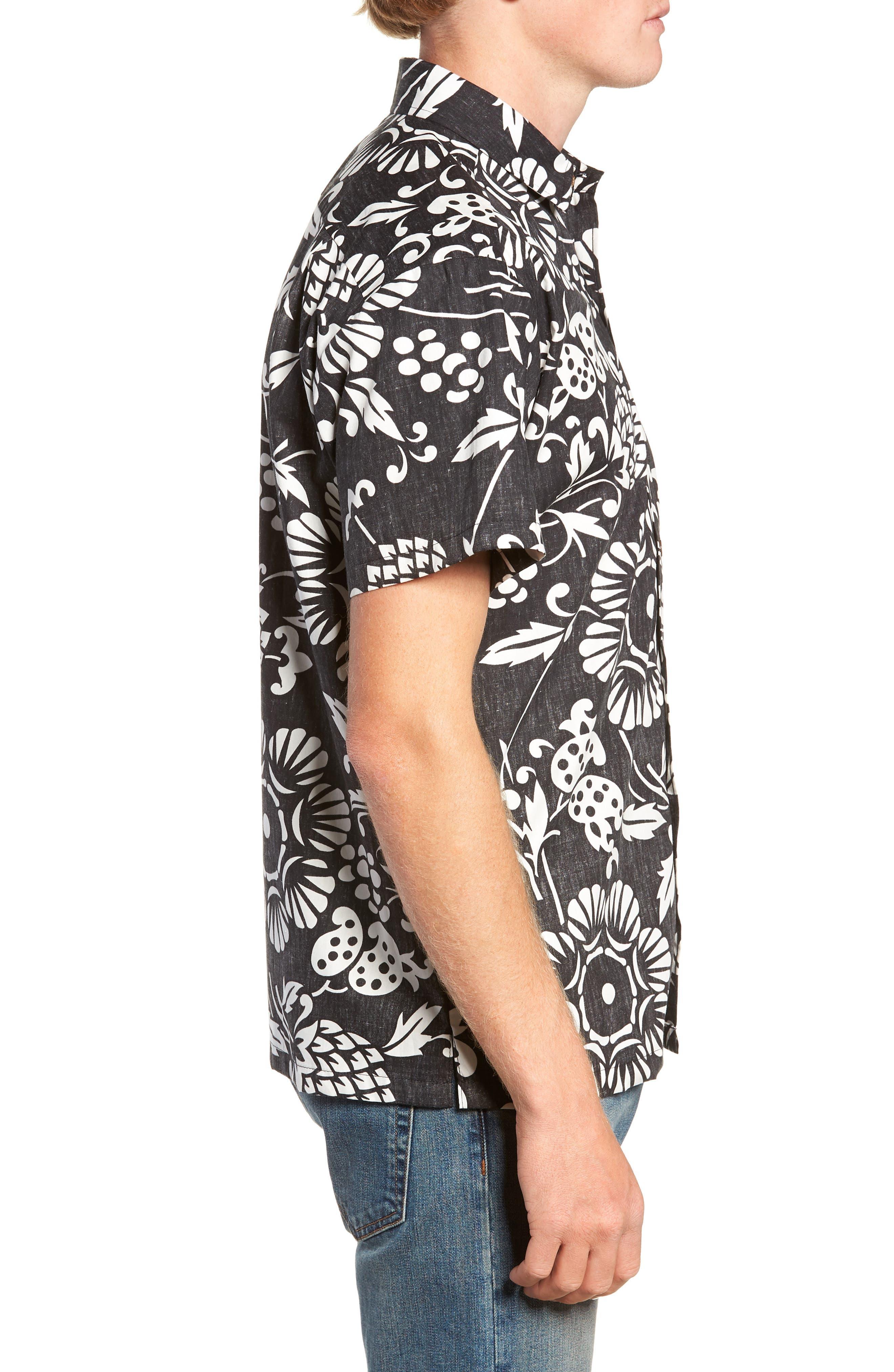 Duke's Pareo Trim Fit Sport Shirt,                             Alternate thumbnail 4, color,                             001