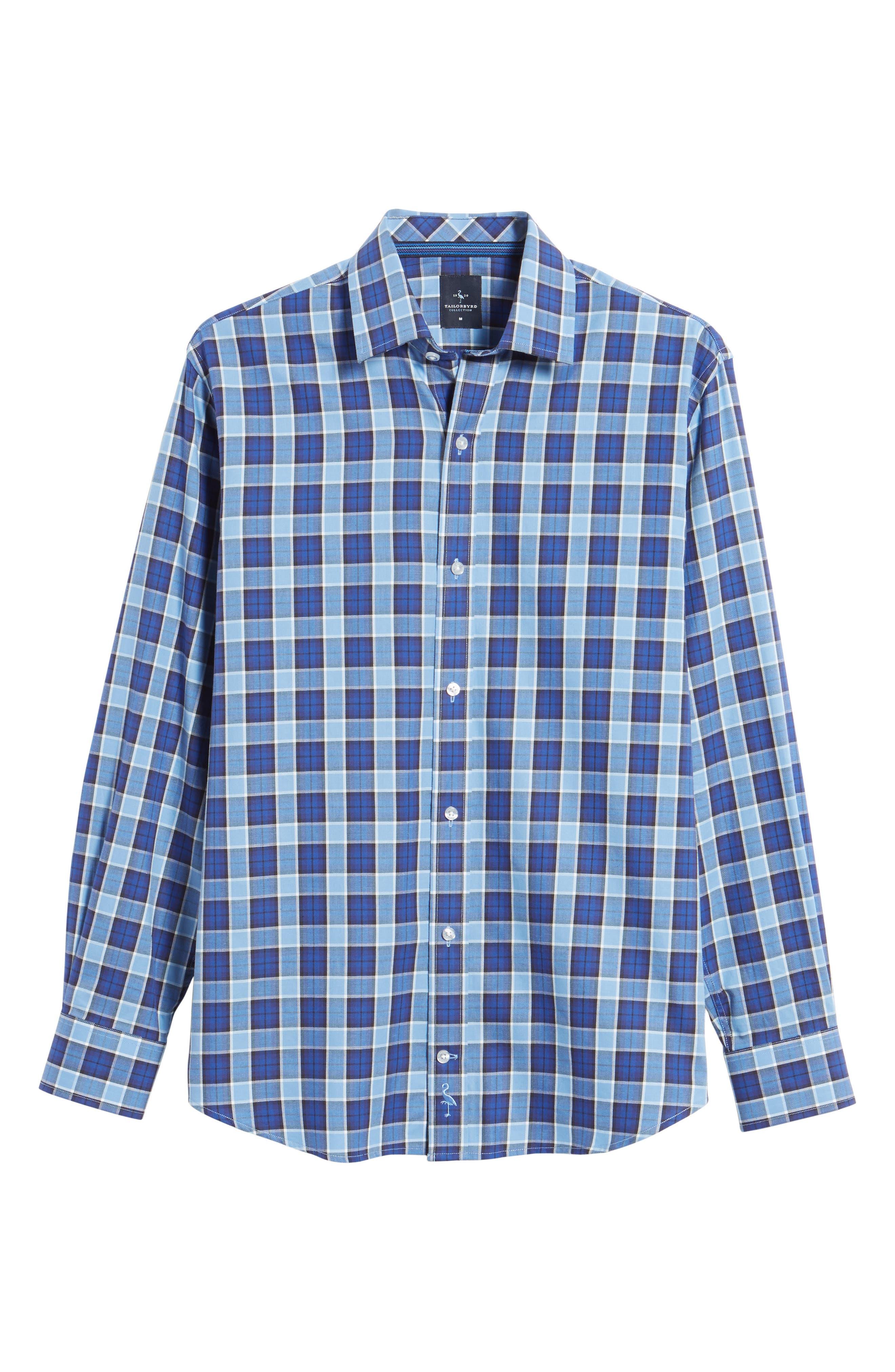 Boothville Check Sport Shirt,                             Alternate thumbnail 6, color,                             416