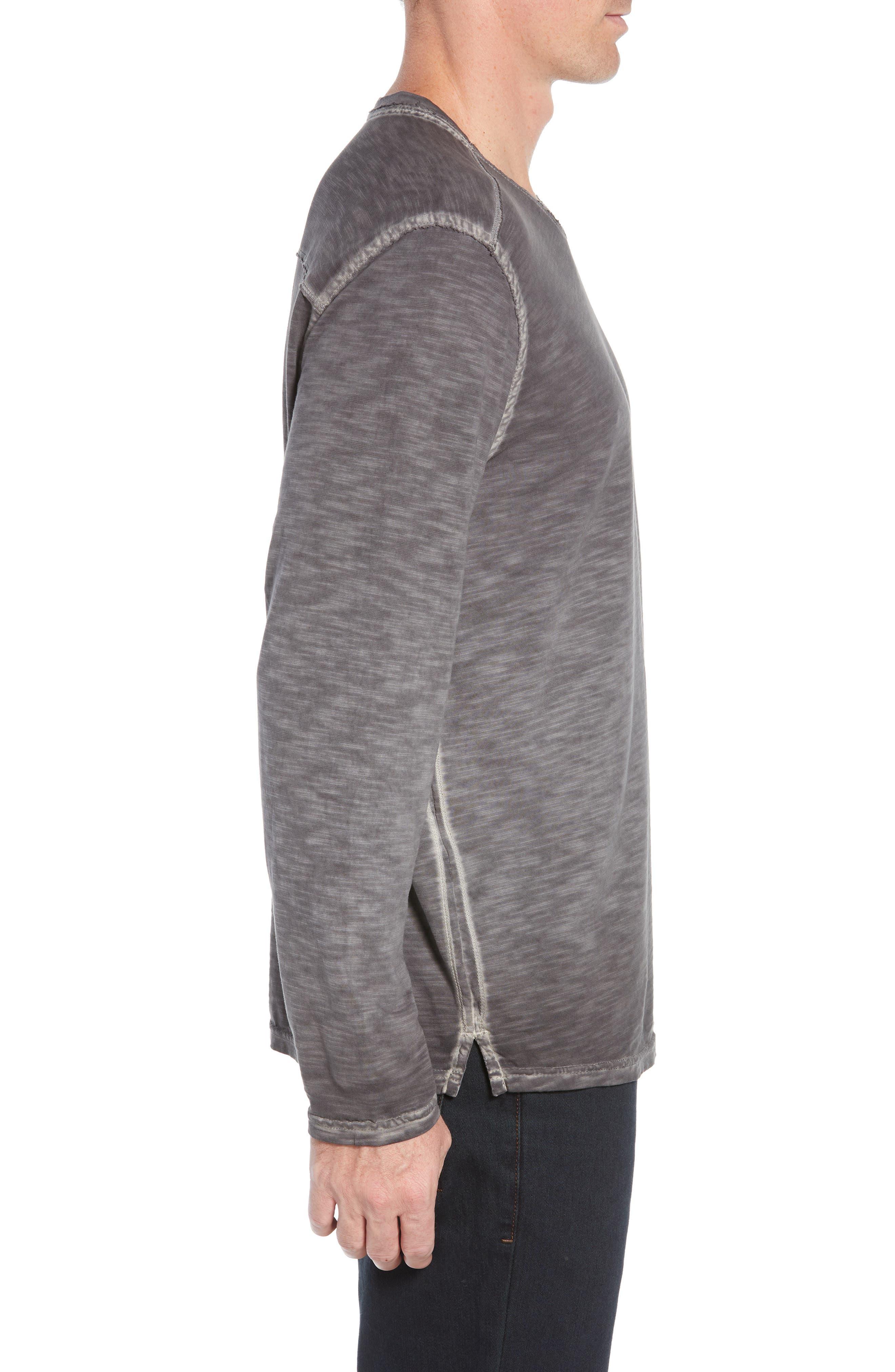Suncoast Shores Long Sleeve V-Neck T-Shirt,                             Alternate thumbnail 3, color,                             COAL