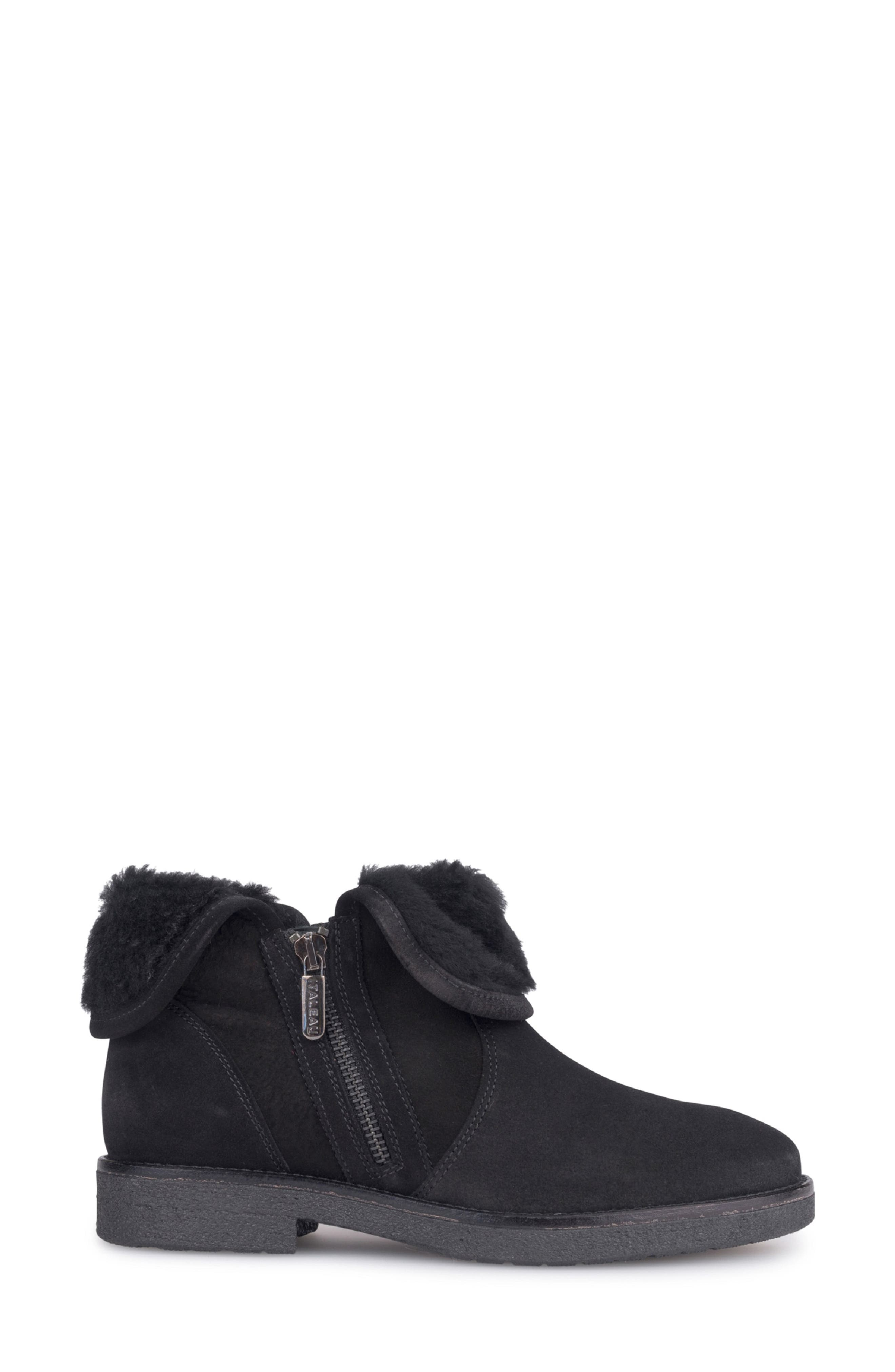 Rosie Genuine Shearling Lined Bootie,                             Alternate thumbnail 3, color,                             NERO