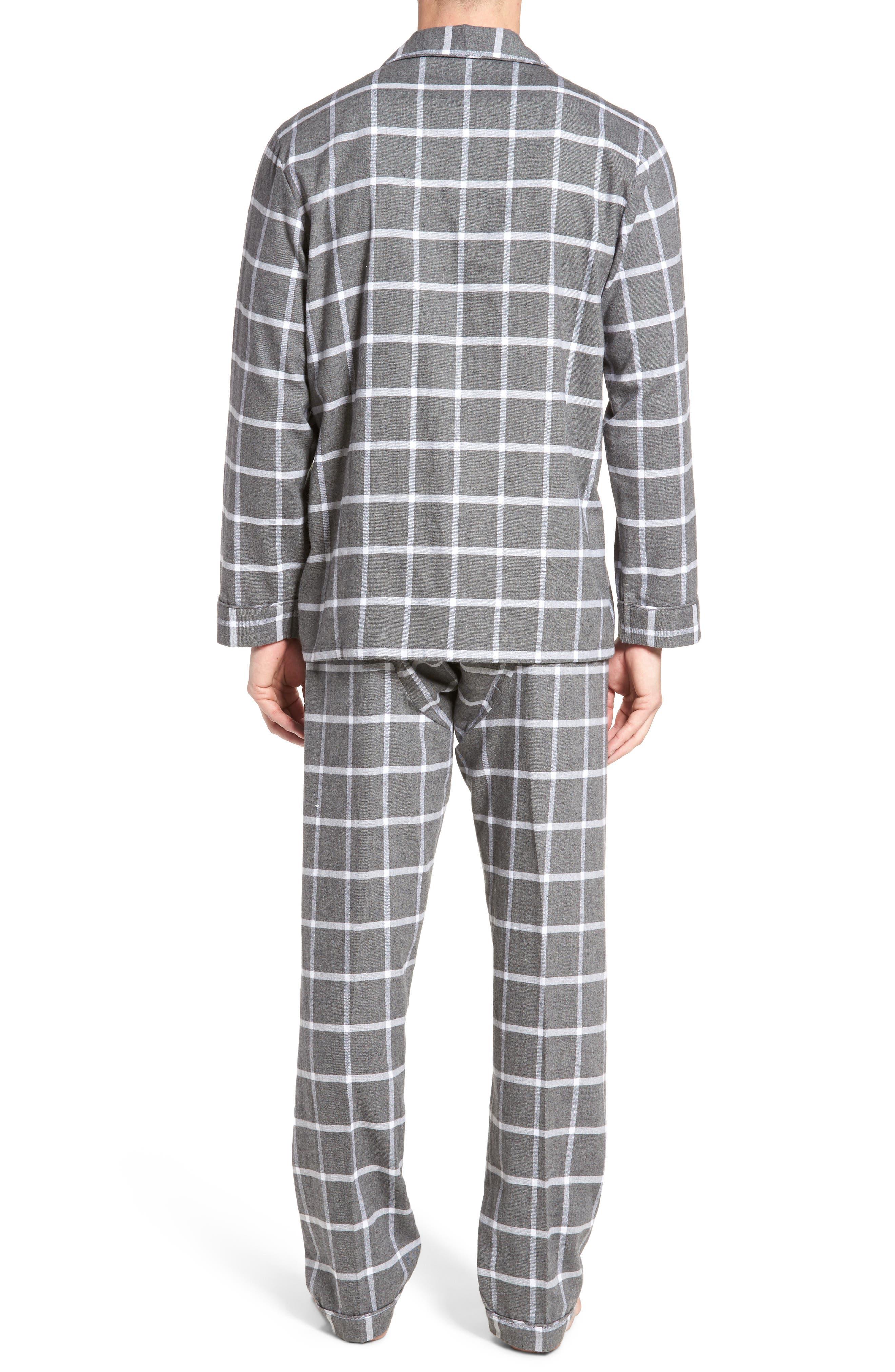 Bryson Plaid Pajama Set,                             Alternate thumbnail 4, color,