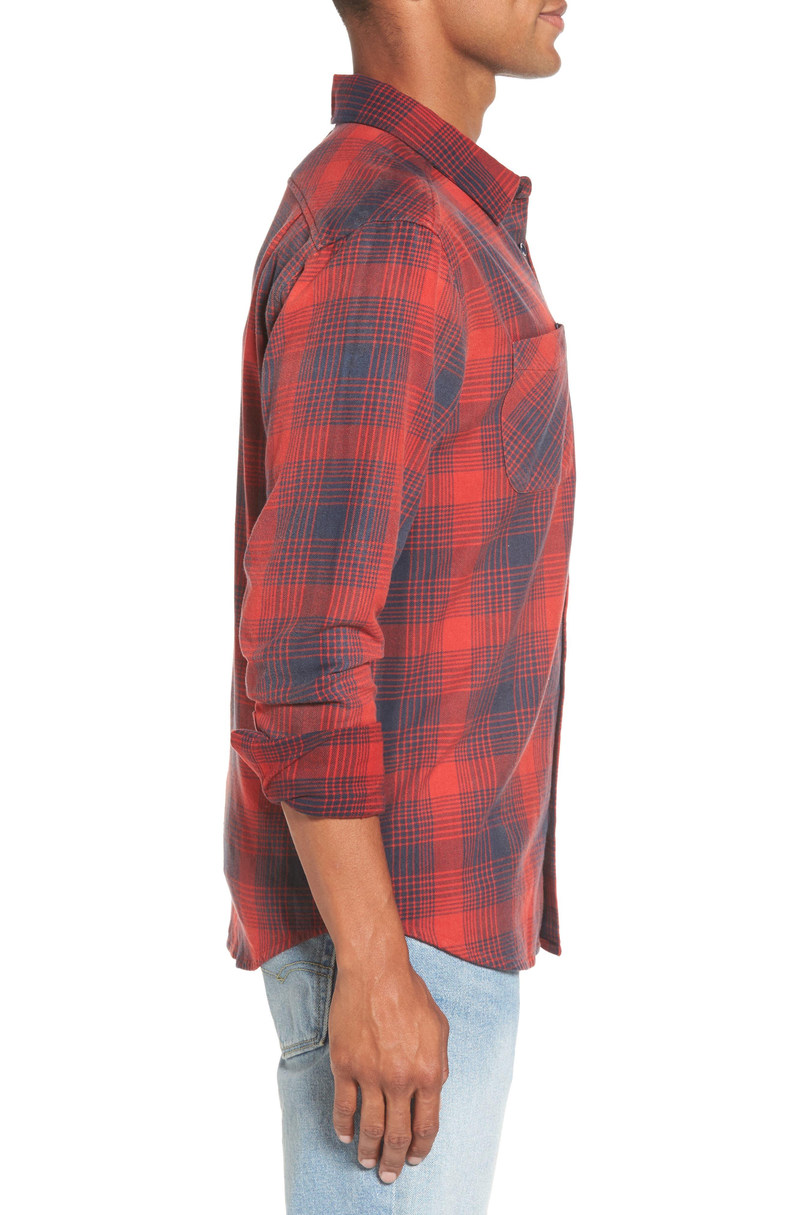 Plaid Woven Shirt,                             Alternate thumbnail 3, color,                             620