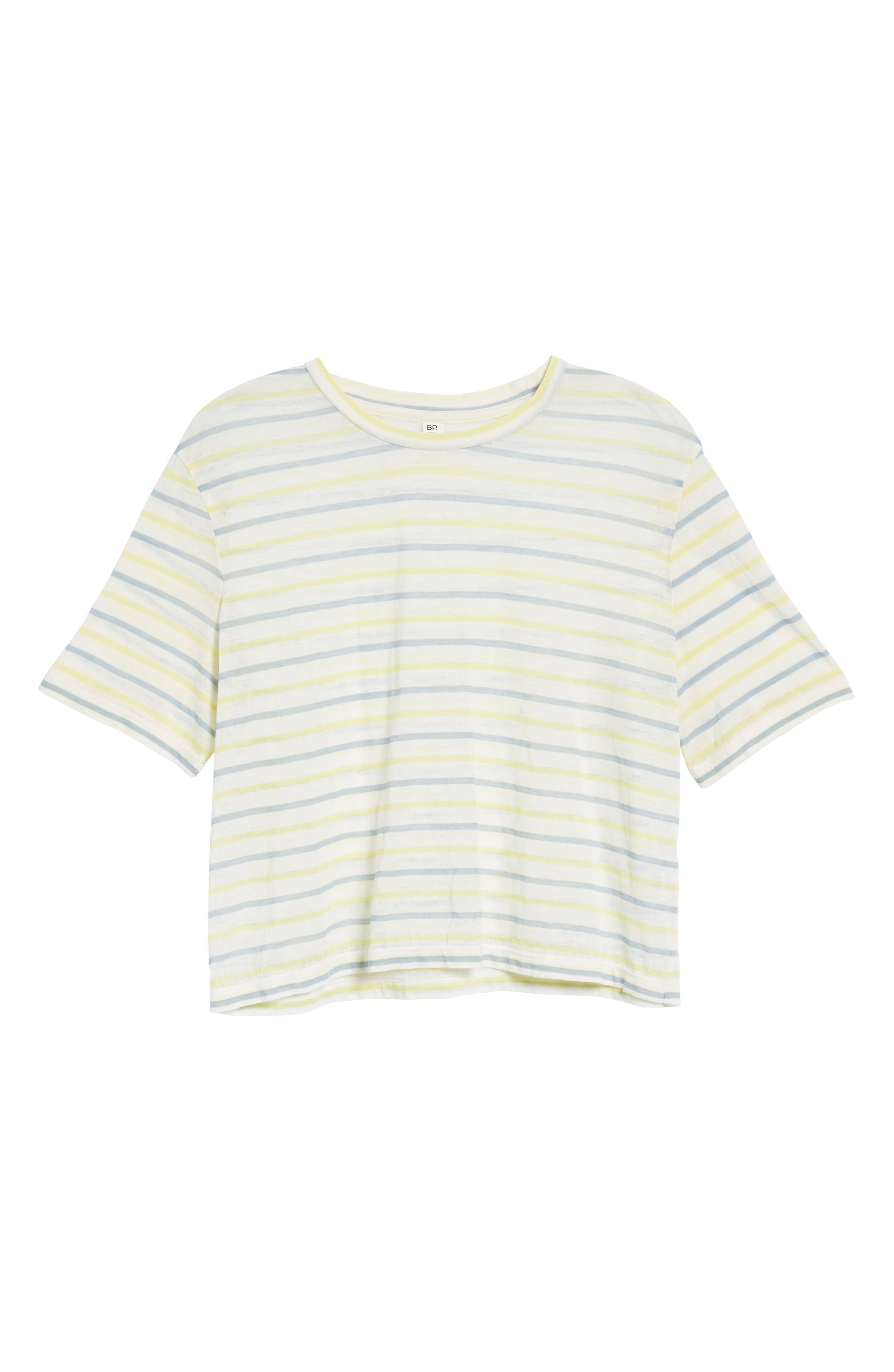 Stripe Baby Tee,                             Alternate thumbnail 6, color,                             450