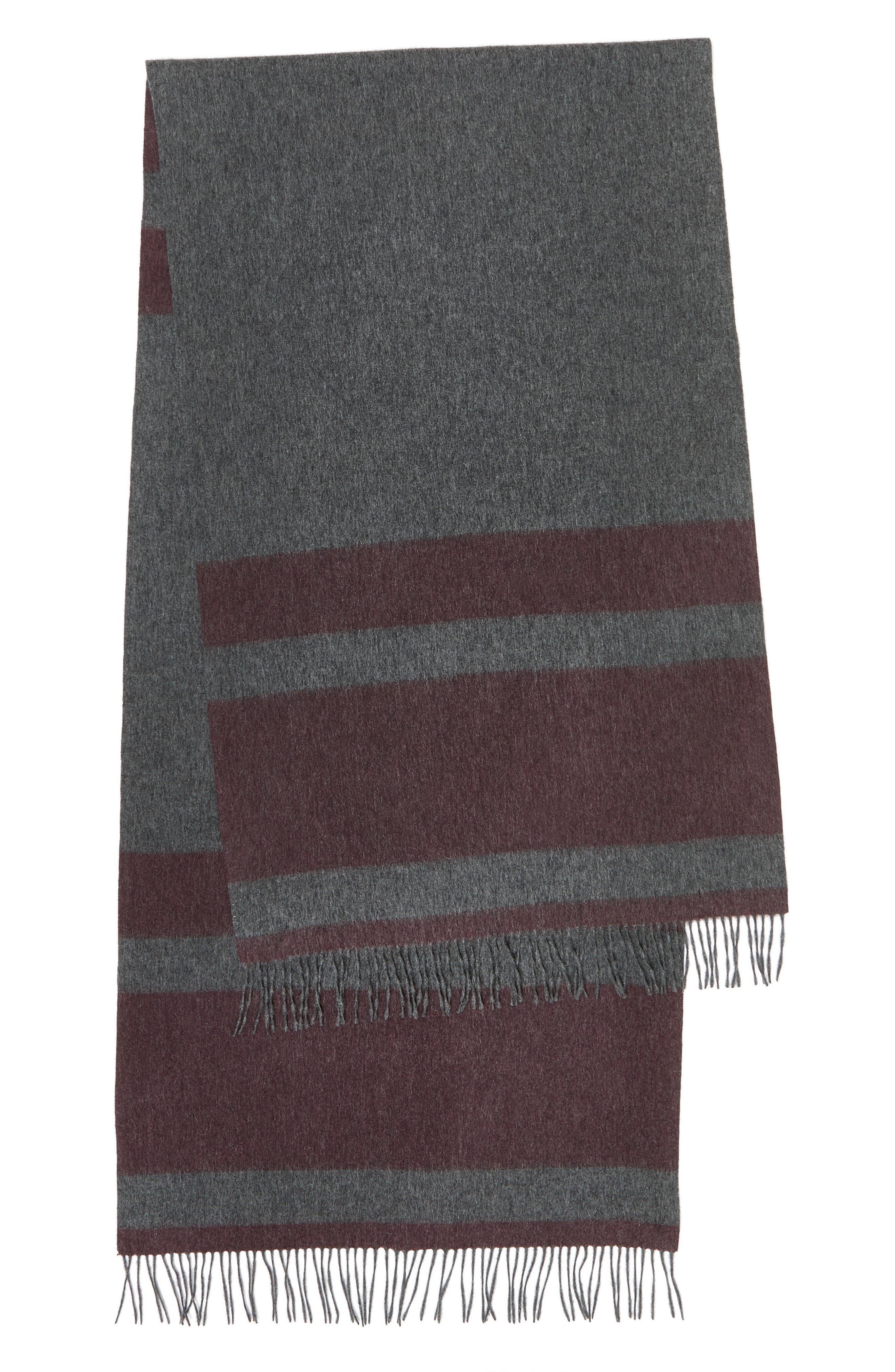 Lazio Stripe Wool Scarf,                             Alternate thumbnail 6, color,