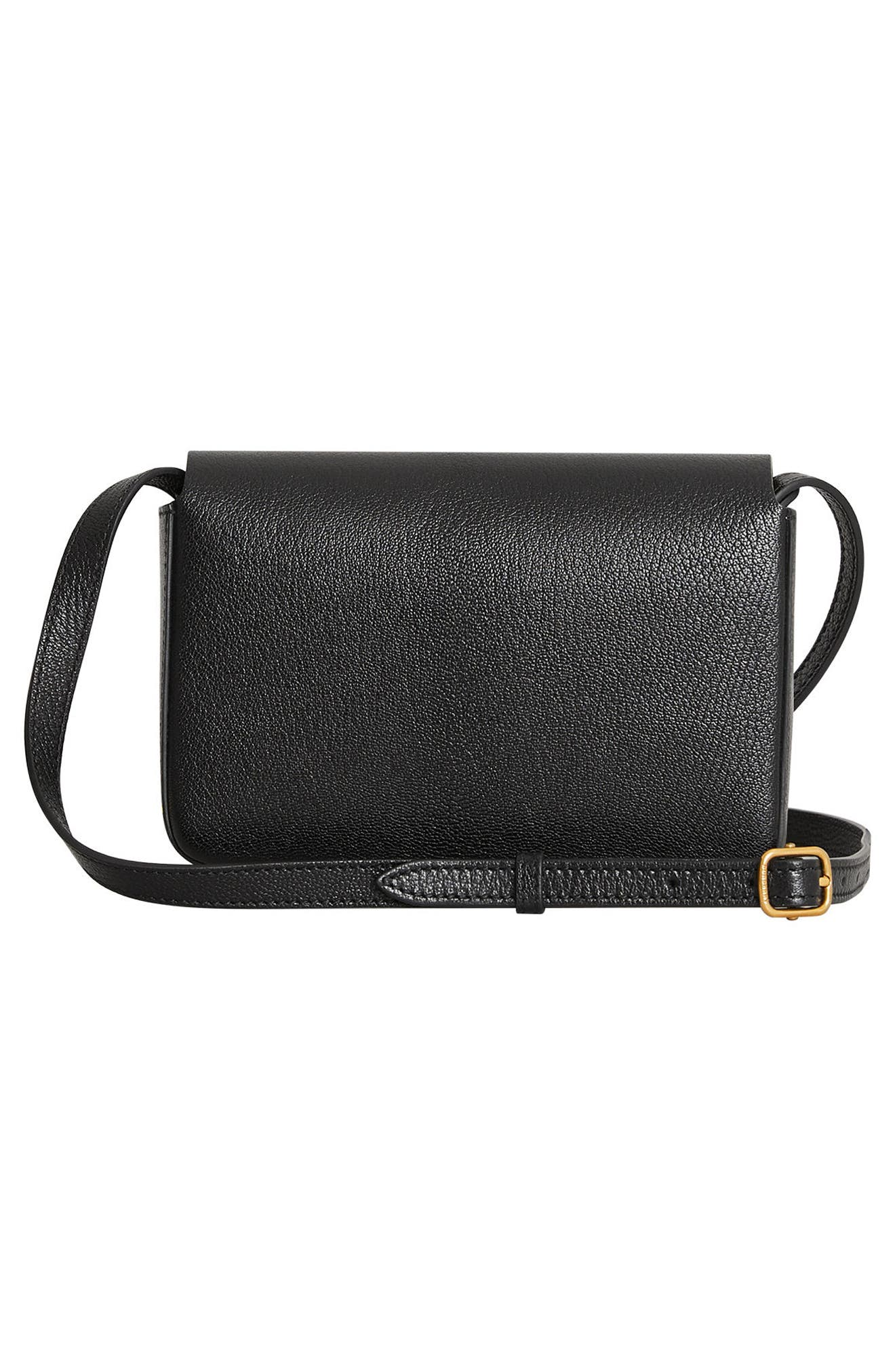 Hampshire Leather Crossbody Bag,                             Alternate thumbnail 2, color,                             001
