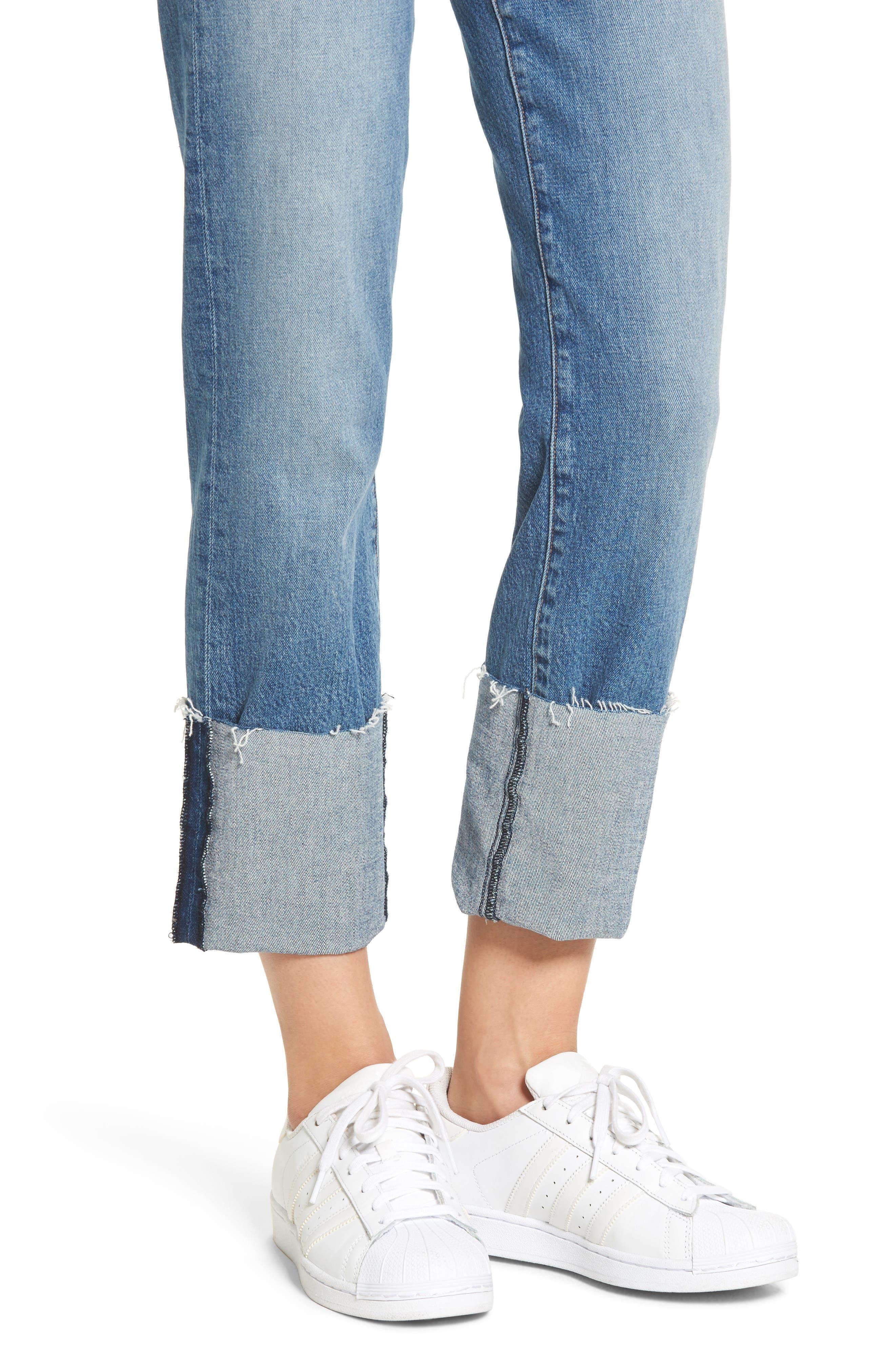 Zoeey High Waist Crop Straight Leg Jeans,                             Alternate thumbnail 13, color,