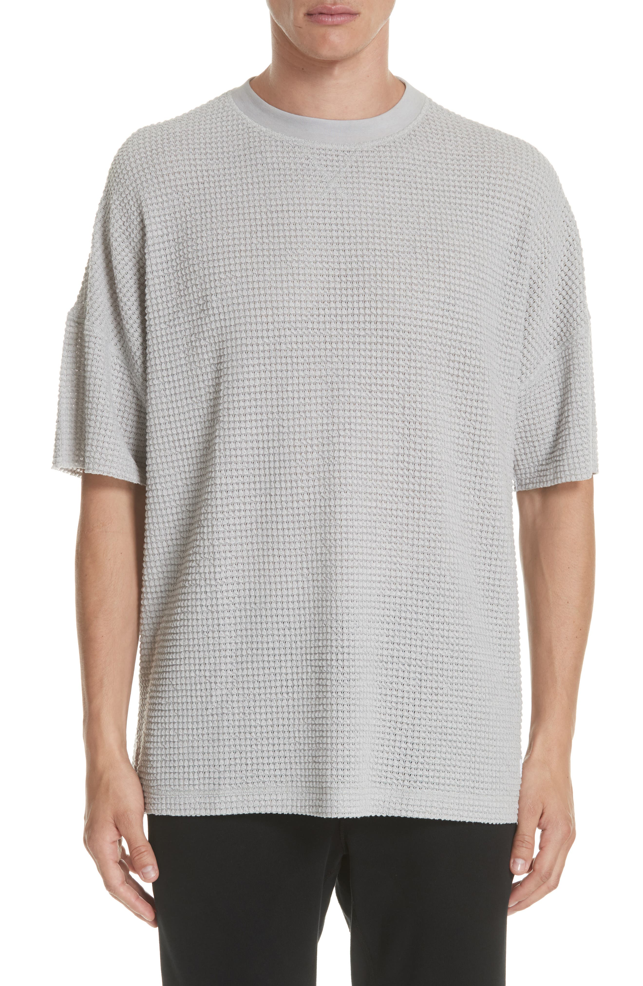 STAMPD Crossgrain T-Shirt in Rinsed Heather Grey