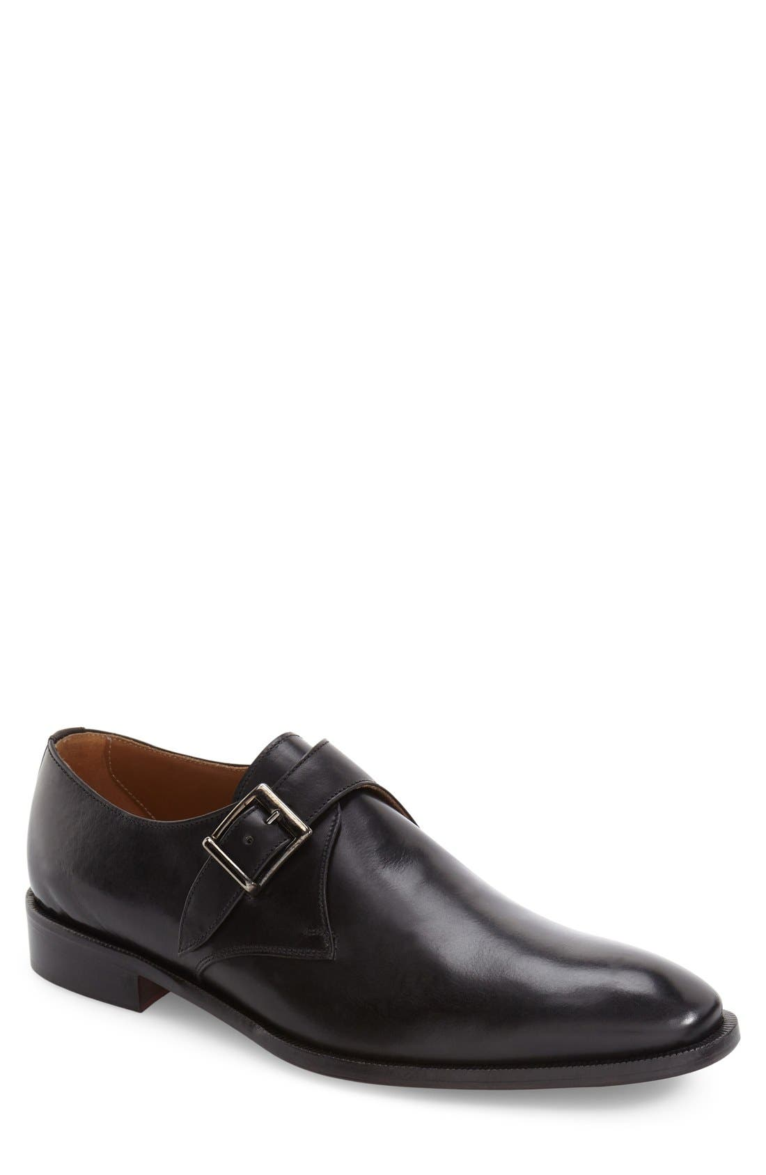 Suit Coat Monk Strap Shoe,                             Alternate thumbnail 3, color,                             001