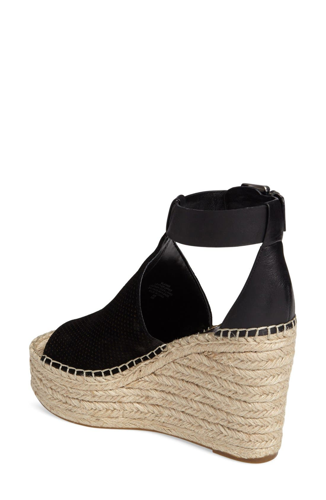 Annie Perforated Espadrille Platform Wedge,                             Alternate thumbnail 11, color,