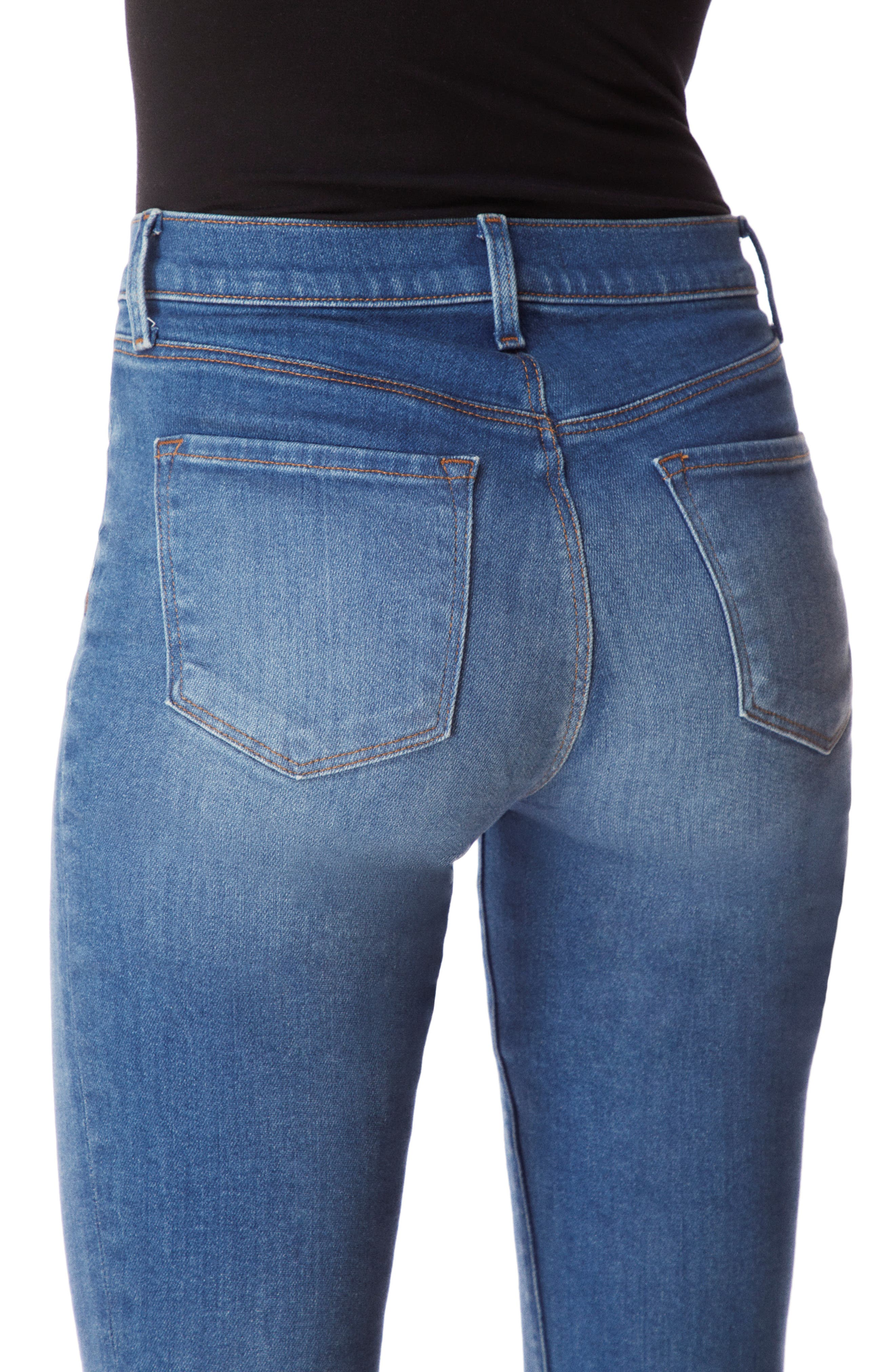 Alana High Waist Crop Skinny Jeans,                             Alternate thumbnail 4, color,                             RADIATE