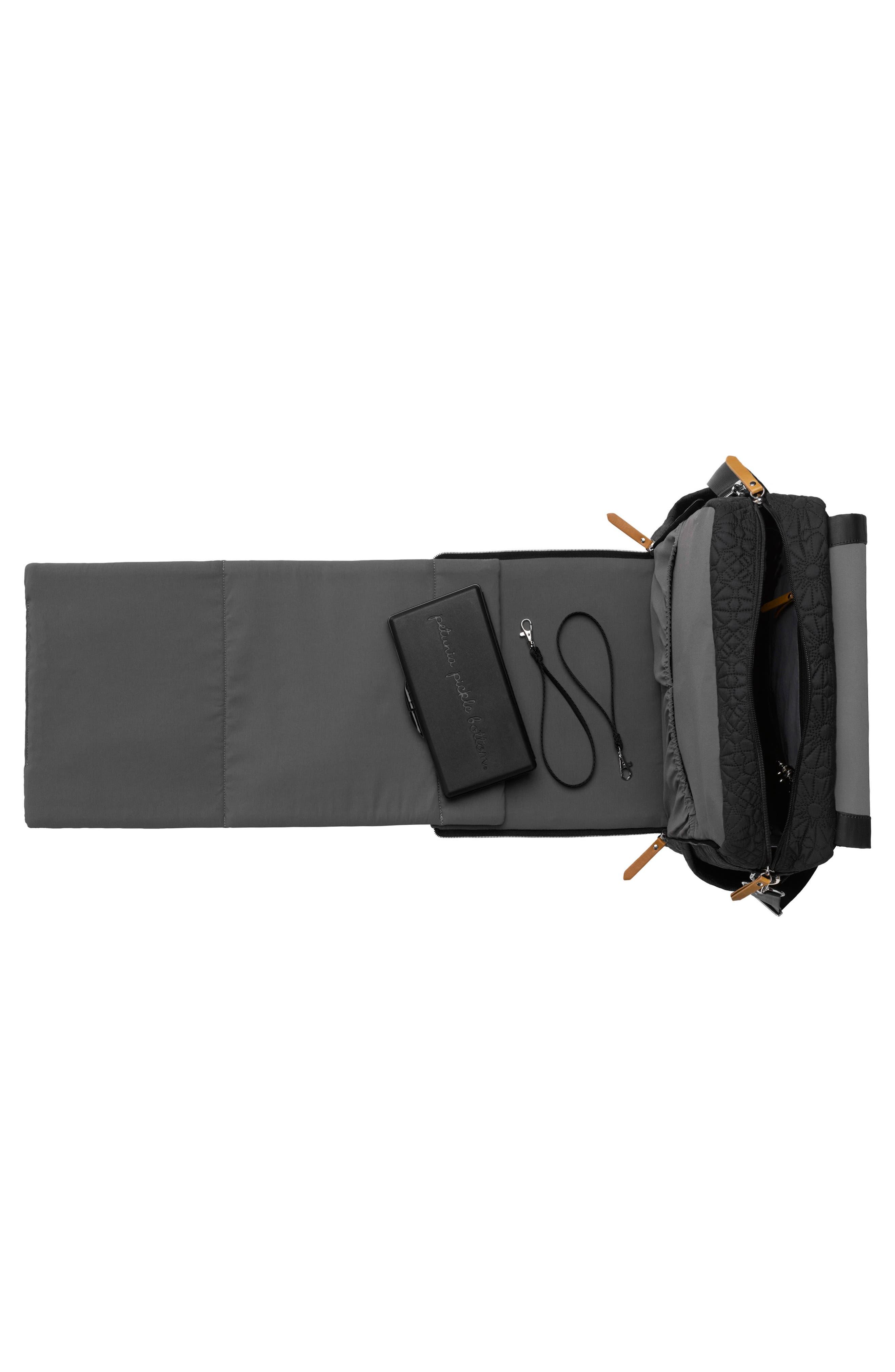 'Embossed Boxy' Backpack Diaper Bag,                             Alternate thumbnail 3, color,                             002
