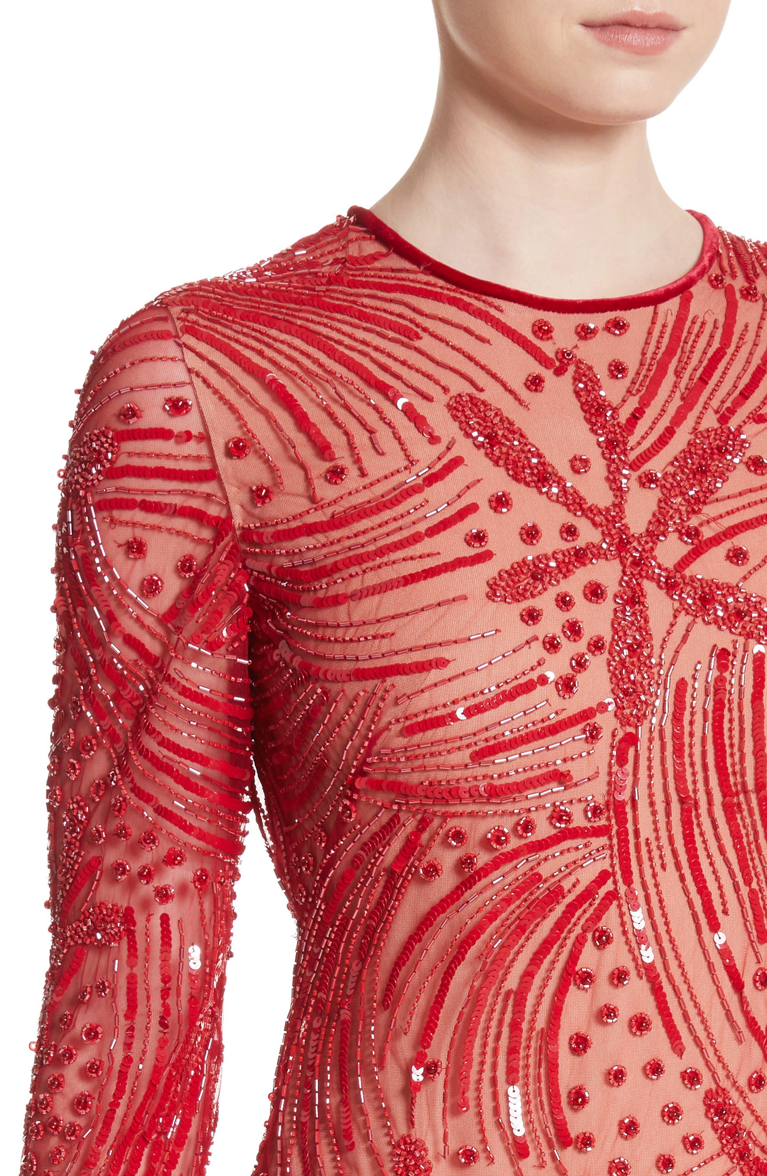 Beaded Sheath Dress,                             Alternate thumbnail 4, color,                             600