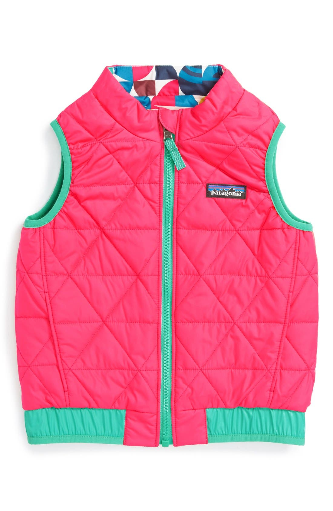 'Puff-Ball' Water Resistant Reversible Vest,                             Alternate thumbnail 10, color,