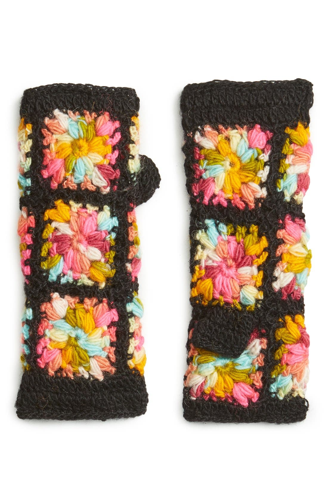 Flower Crochet Hand Warmers,                             Main thumbnail 3, color,
