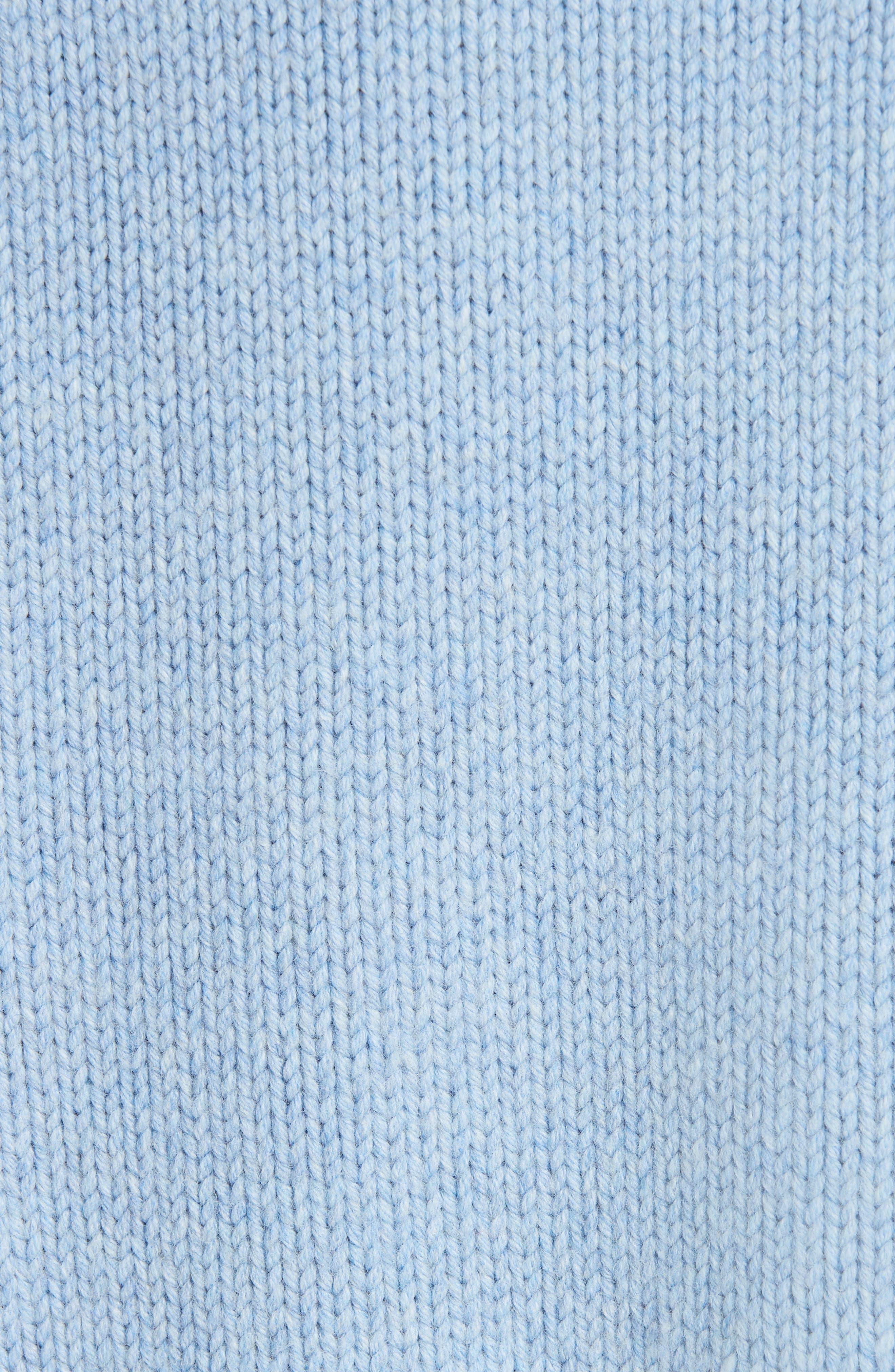 Merino Wool Sweater,                             Alternate thumbnail 5, color,                             SKY BLUE