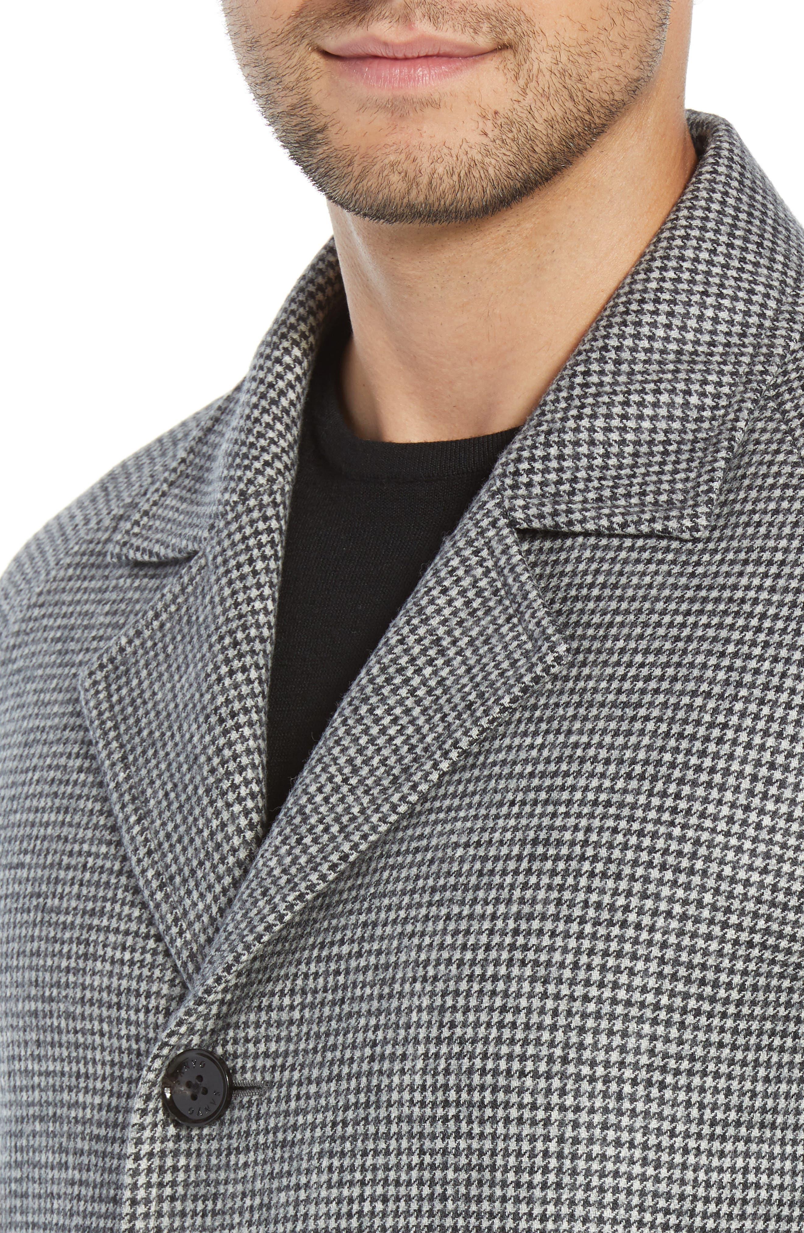 Wool Top Coat,                             Alternate thumbnail 4, color,                             GREY