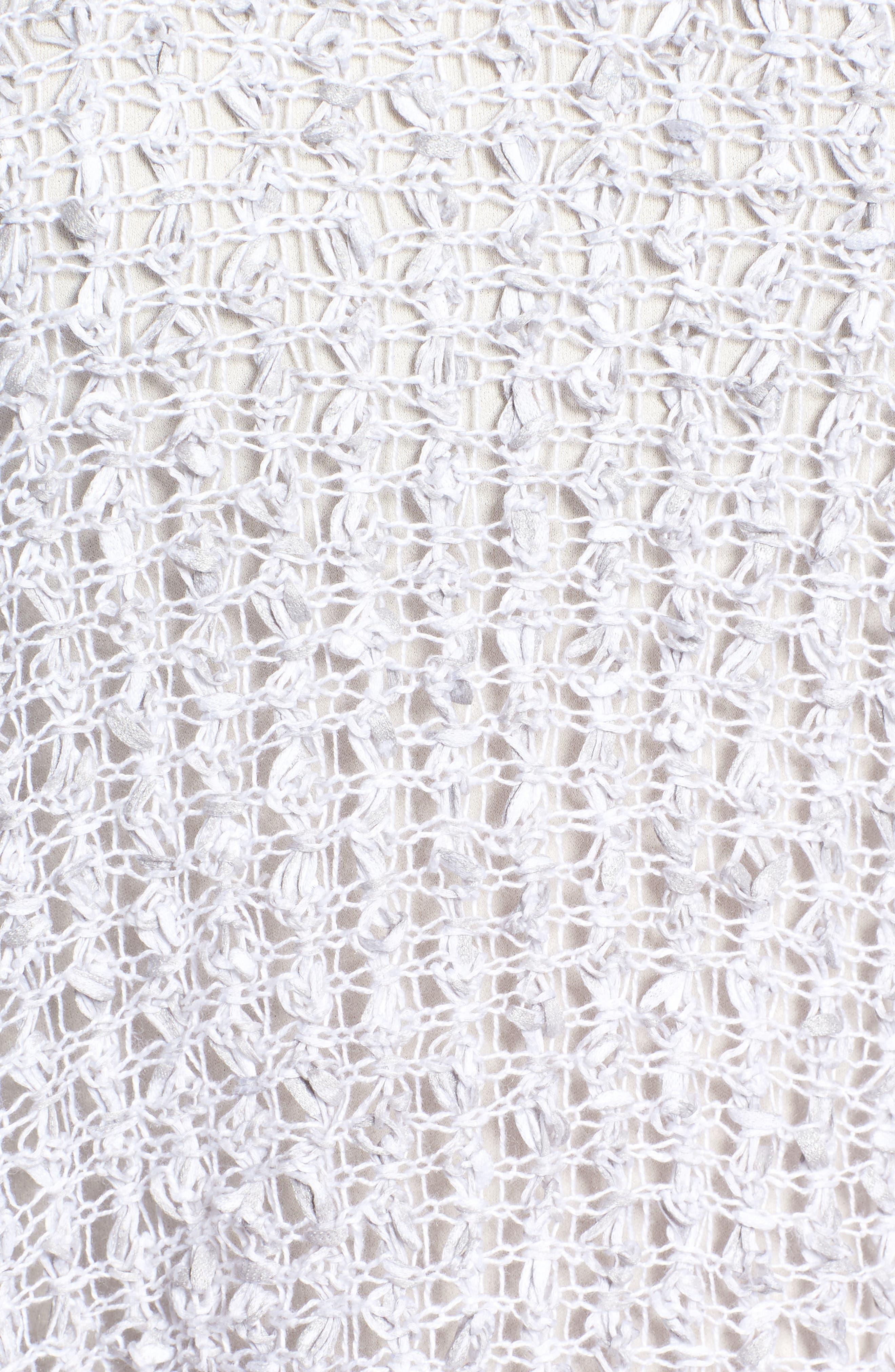 Organic Cotton & Linen Crochet Top,                             Alternate thumbnail 6, color,                             022