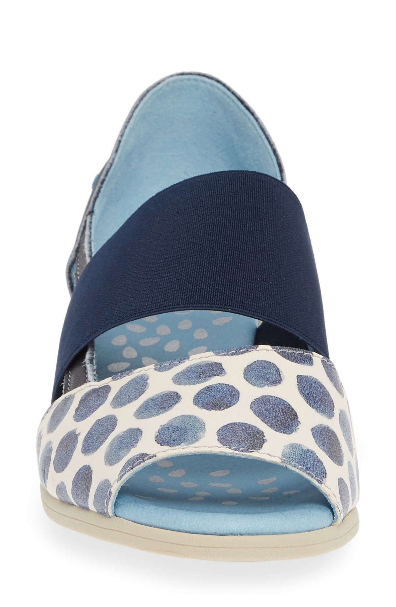 CLOUD,                             'Canary' Skimmer Sandal,                             Alternate thumbnail 4, color,                             TUPAI BLUE LEATHER