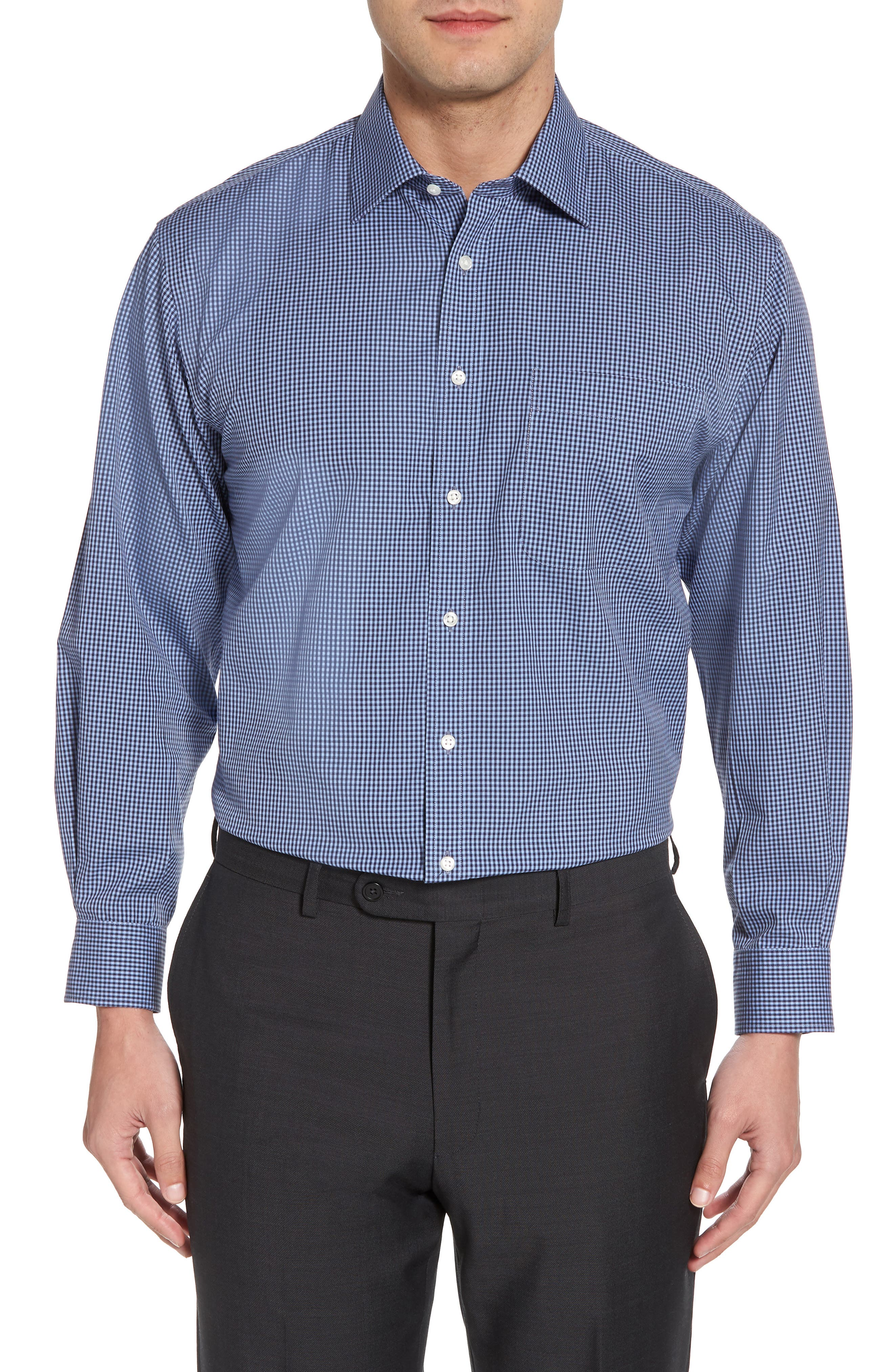 Smartcare Classic Fit Check Dress Shirt,                             Main thumbnail 2, color,