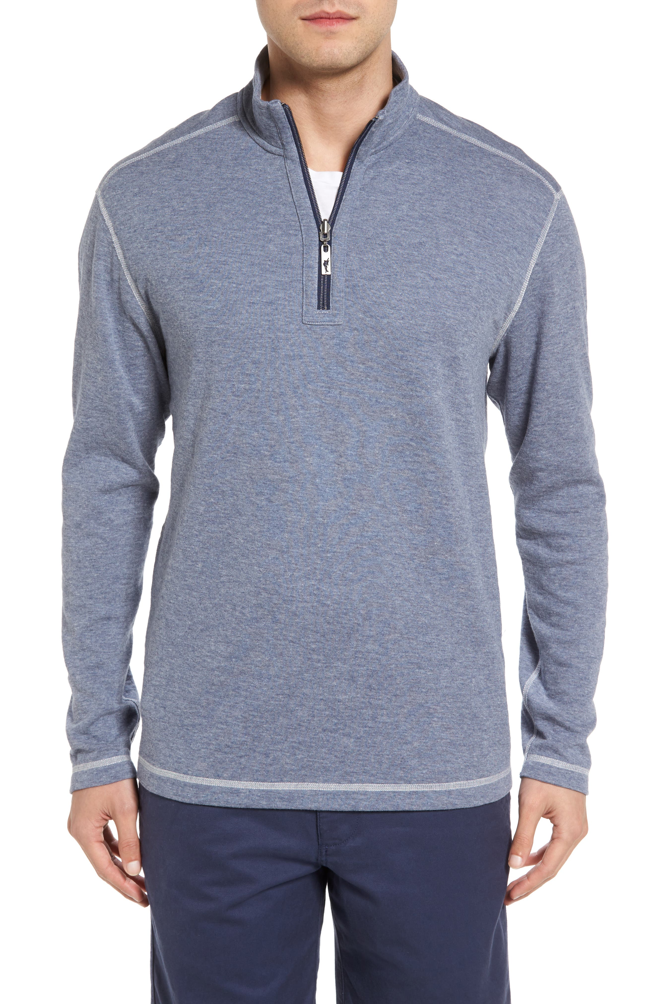 Sea Glass Reversible Quarter Zip Pullover,                             Alternate thumbnail 36, color,