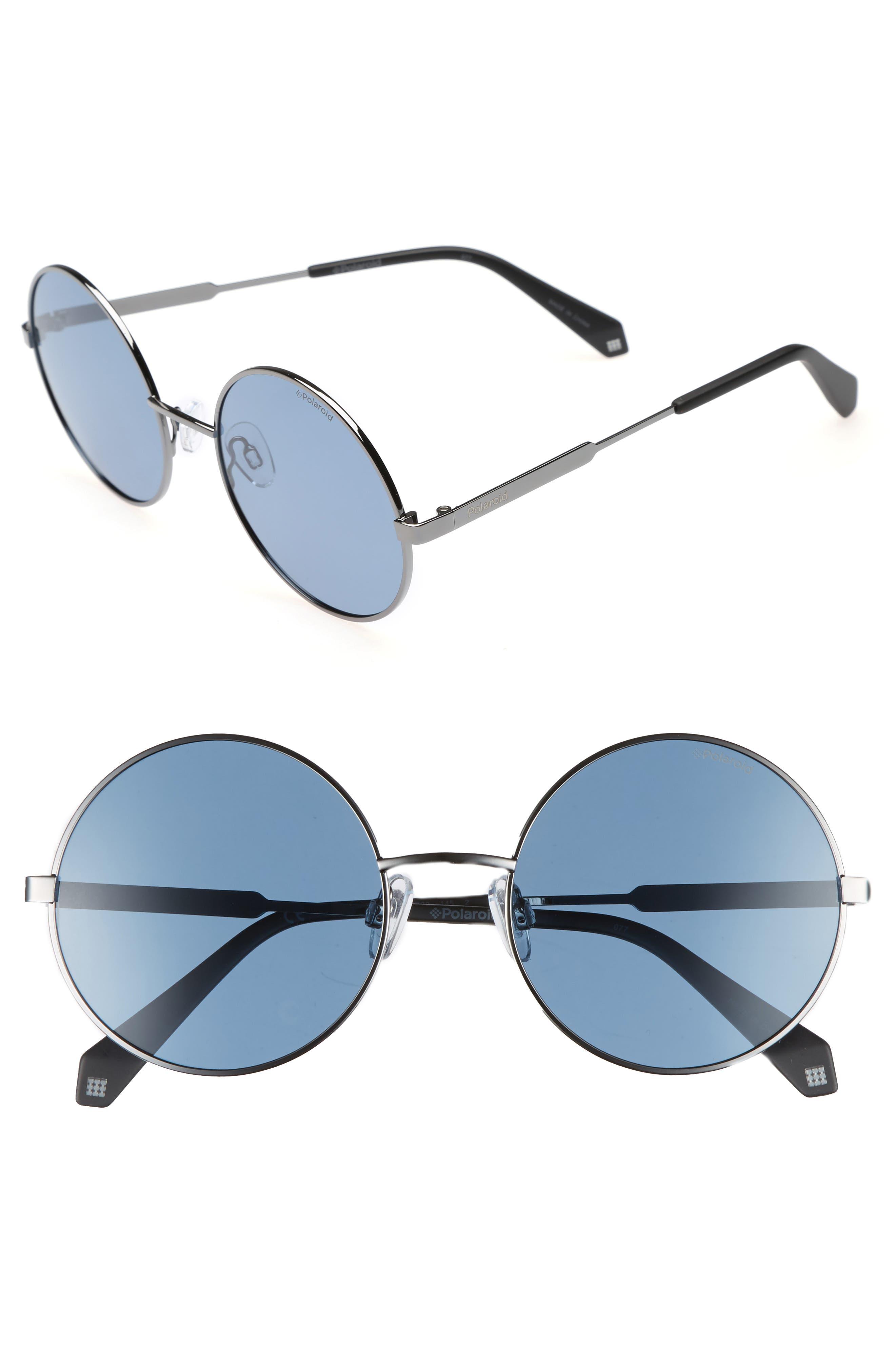 55mm Polarized Round Sunglasses,                             Main thumbnail 2, color,