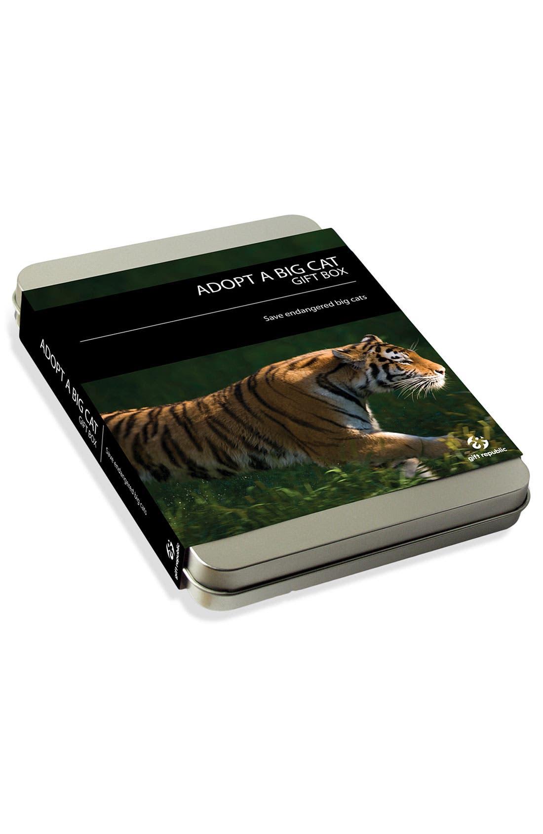 'Adopt a Big Cat' Gift Box,                             Main thumbnail 1, color,                             000