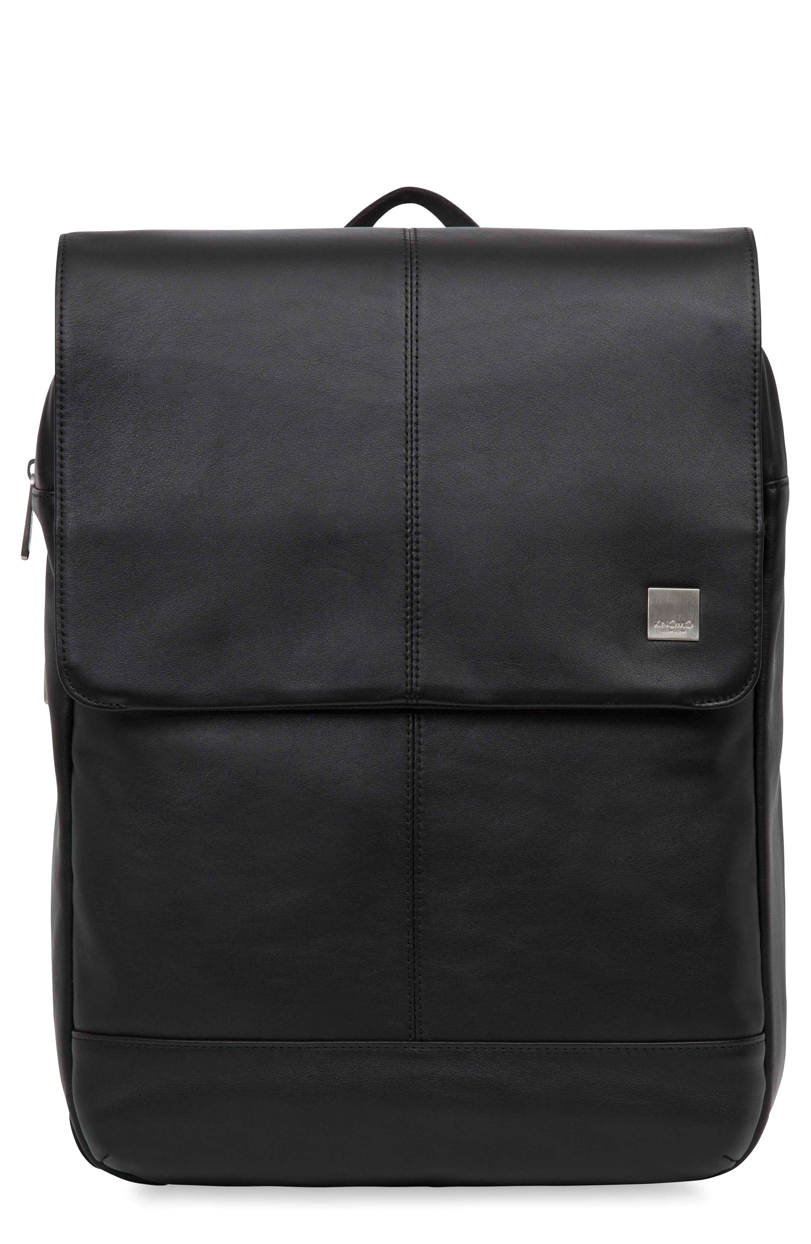 Brompton Hudson Leather Backpack,                             Main thumbnail 1, color,                             001