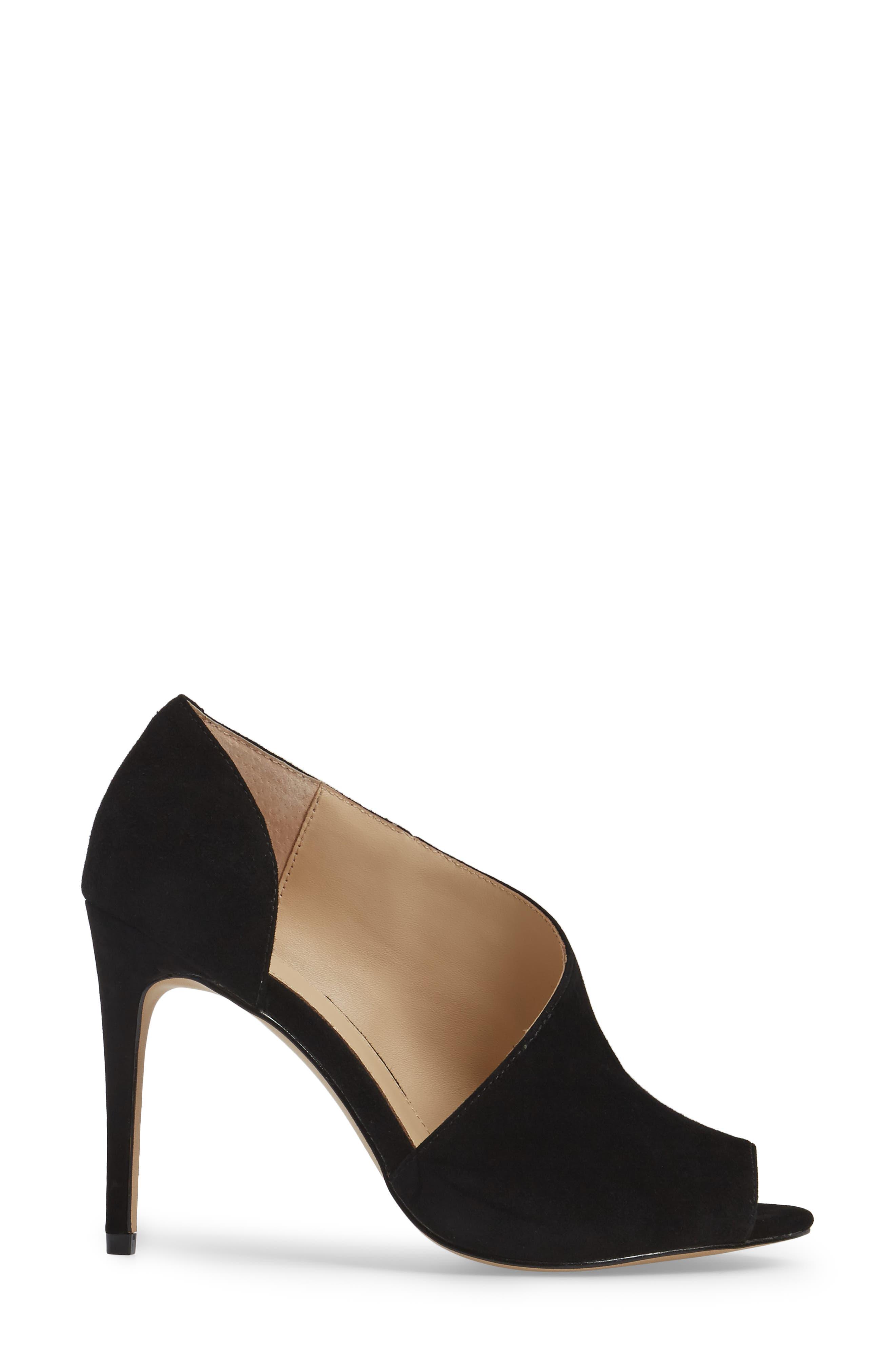 Adelia Asymmetrical Sandal,                             Alternate thumbnail 3, color,                             BLACK