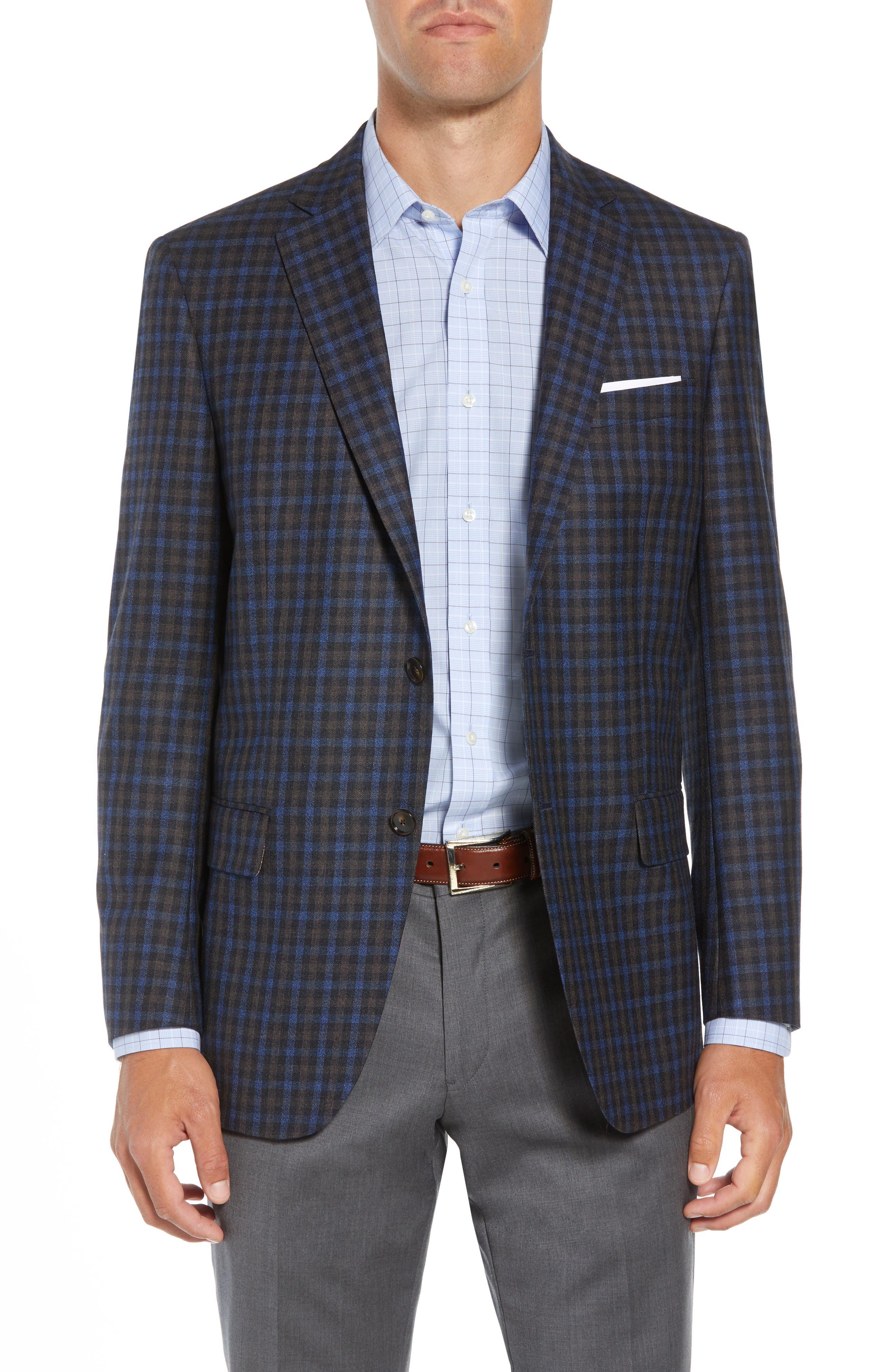 Classic Fit Check Wool Sport Coat,                             Main thumbnail 1, color,                             201