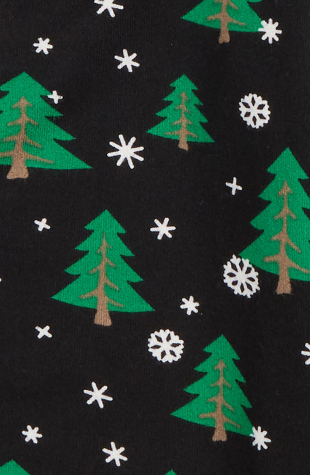 Christmas Tree Two-Piece Pajamas,                             Alternate thumbnail 2, color,                             BLACK
