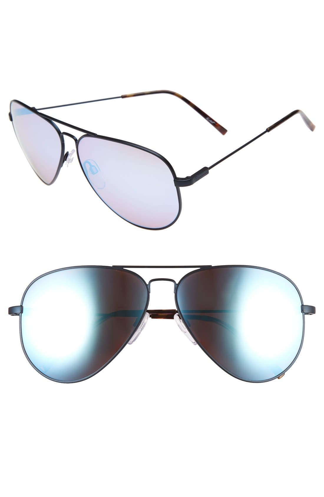 'AV1 XL' 62mm Aviator Sunglasses,                             Main thumbnail 1, color,