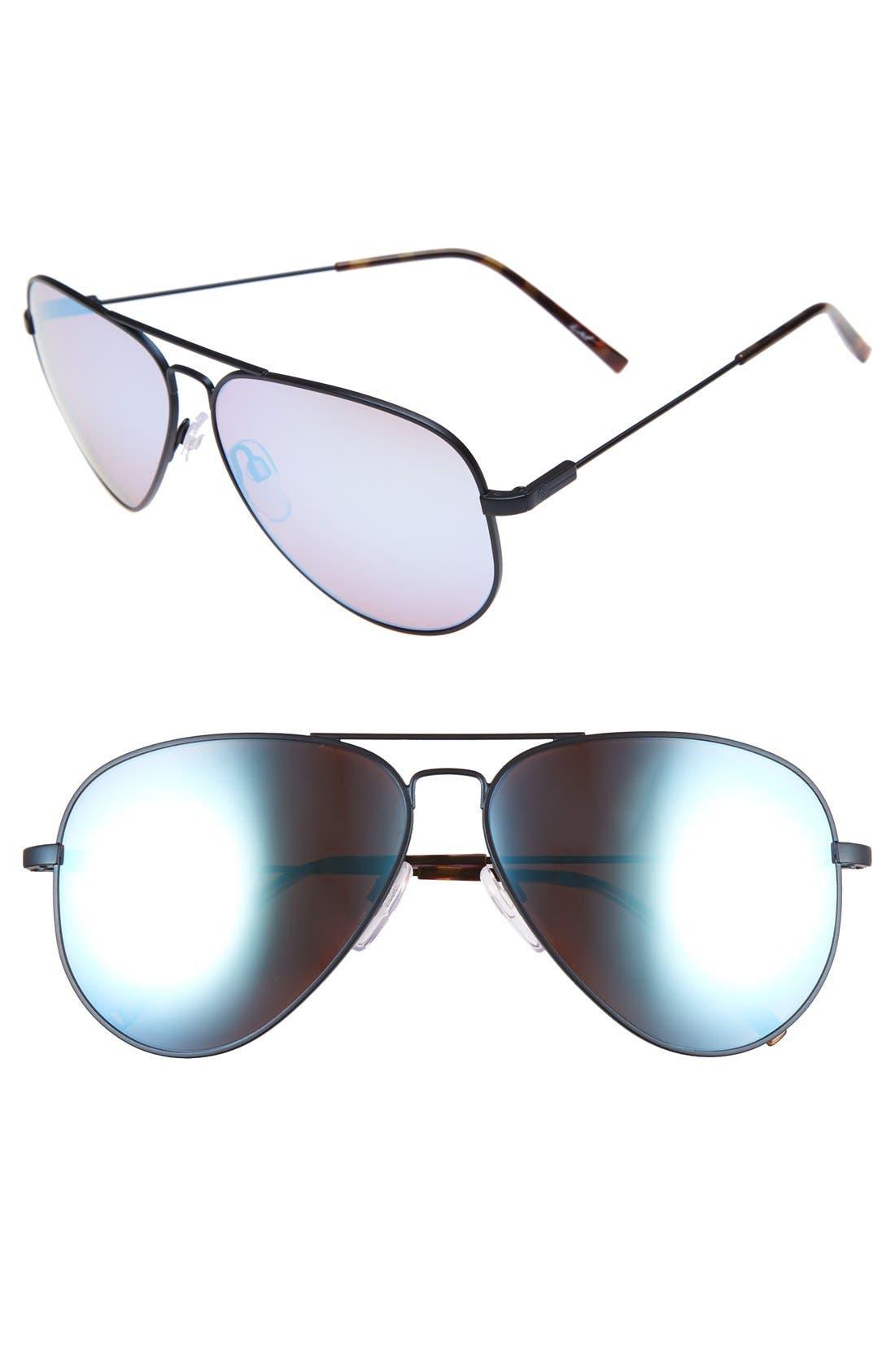'AV1 XL' 62mm Aviator Sunglasses,                         Main,                         color,