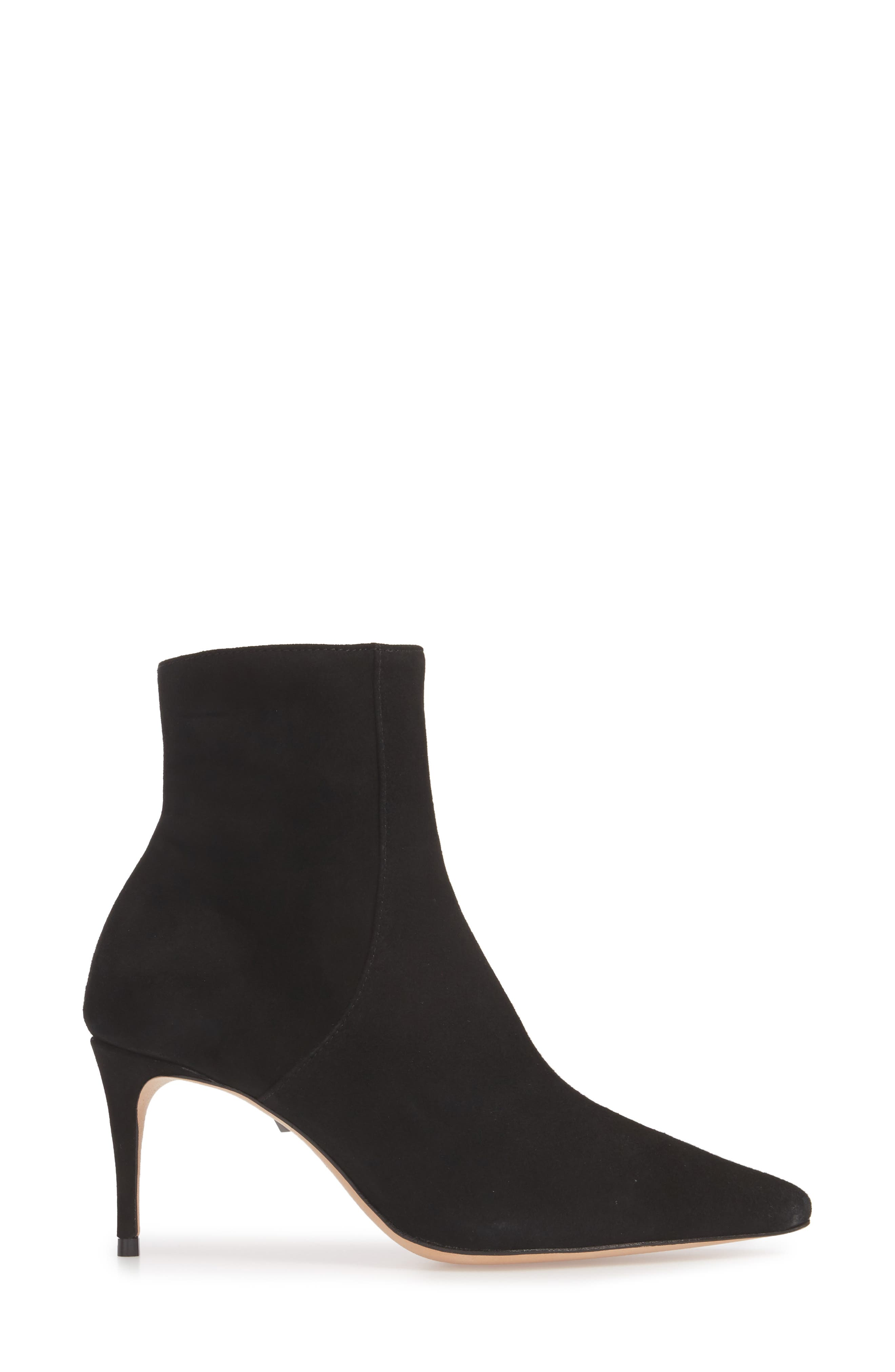 Bette Bootie,                             Alternate thumbnail 3, color,                             BLACK SUEDE