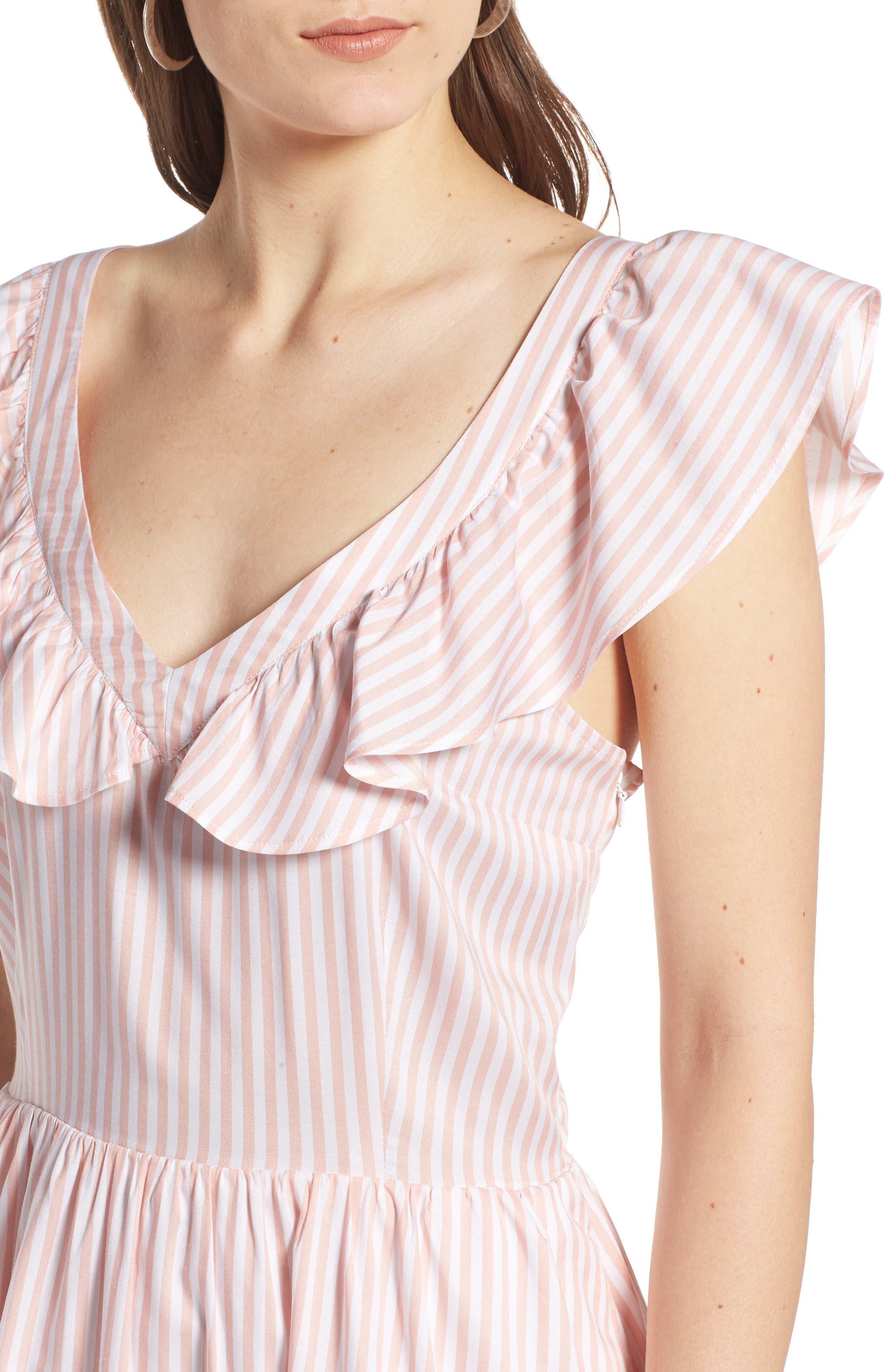 Ruffle Dress,                             Alternate thumbnail 4, color,                             660