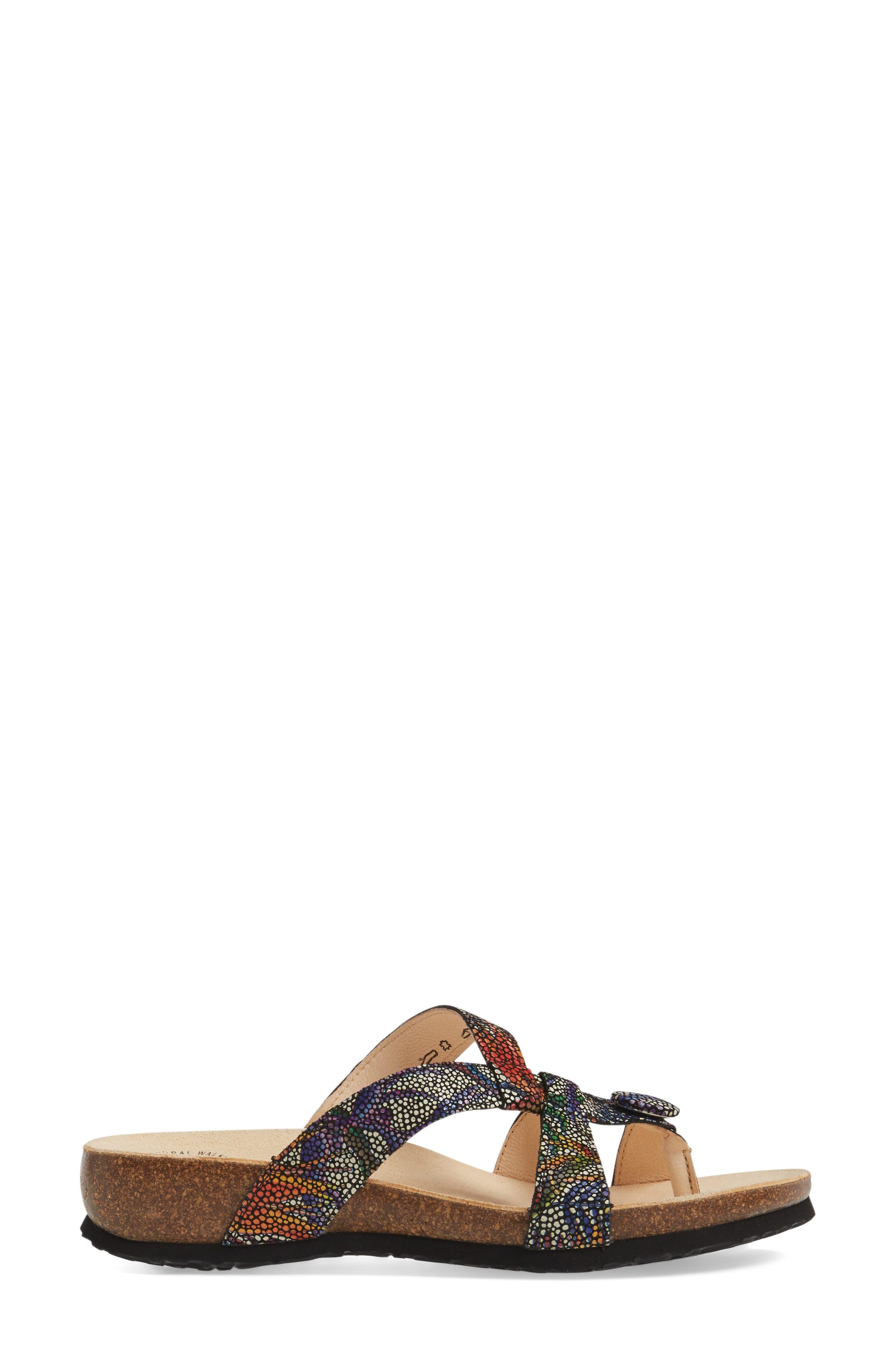 THINK!,                             'Julia Strappy' Sandal,                             Alternate thumbnail 3, color,                             BLACK NUBUCK LEATHER