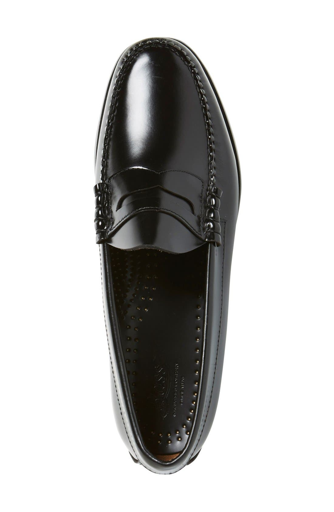 'Larson - Weejuns' Penny Loafer,                             Alternate thumbnail 2, color,                             BLACK LEATHER