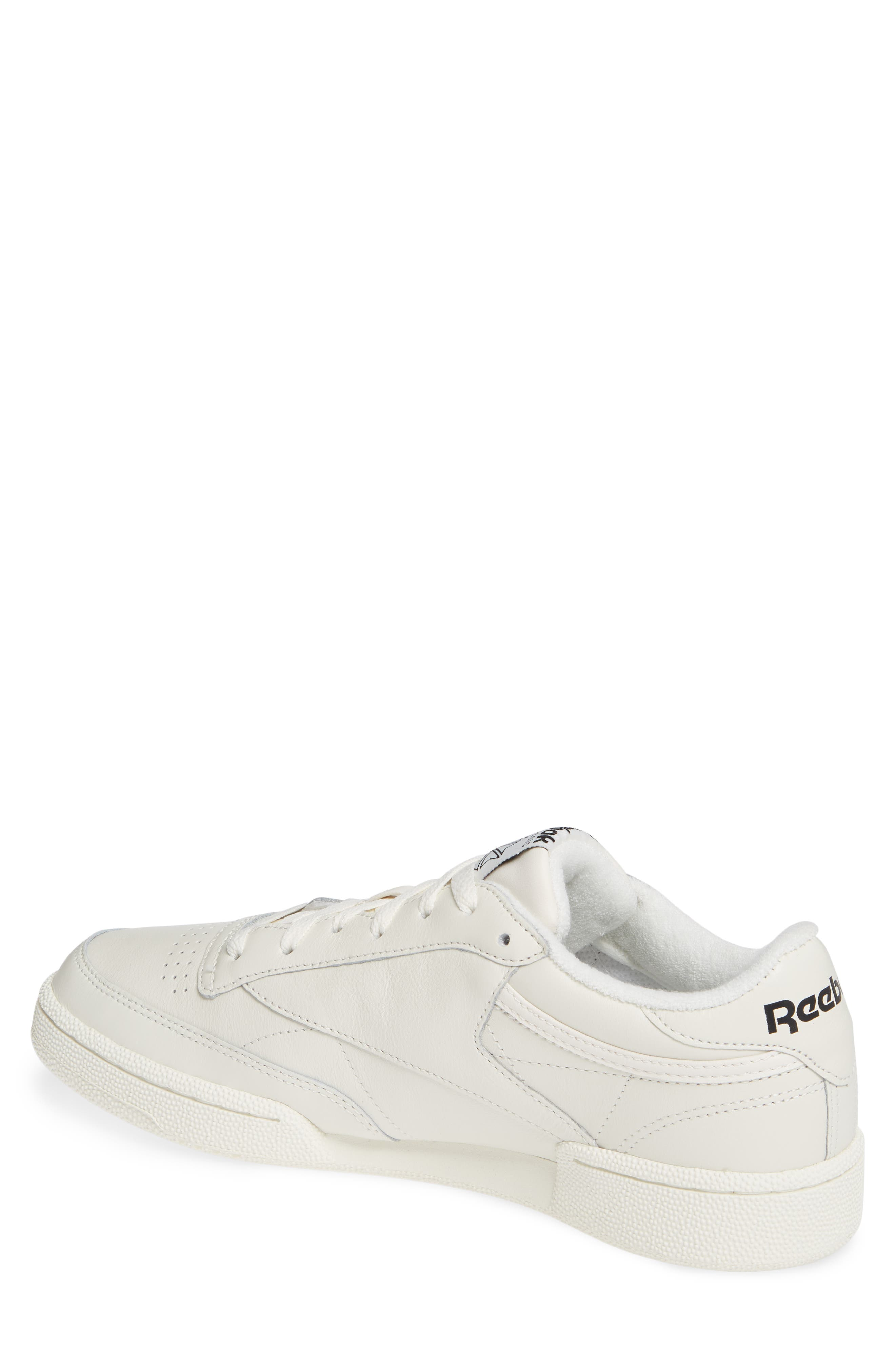 Vintage Club C 85 MU Sneaker,                             Alternate thumbnail 2, color,                             CHALK/ BLACK