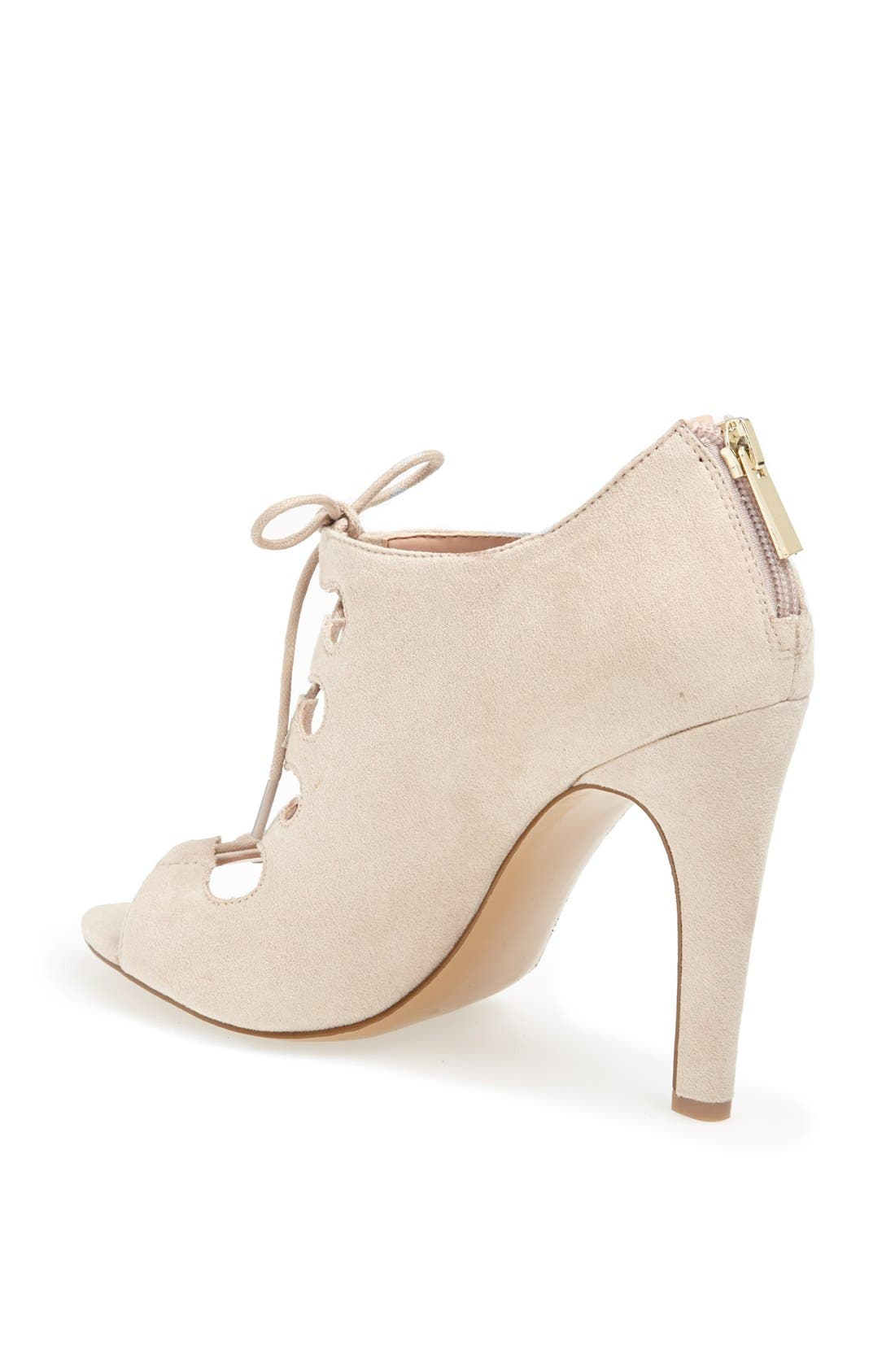 SOLE SOCIETY,                             'Mandee' Open Front Bootie,                             Alternate thumbnail 3, color,                             250
