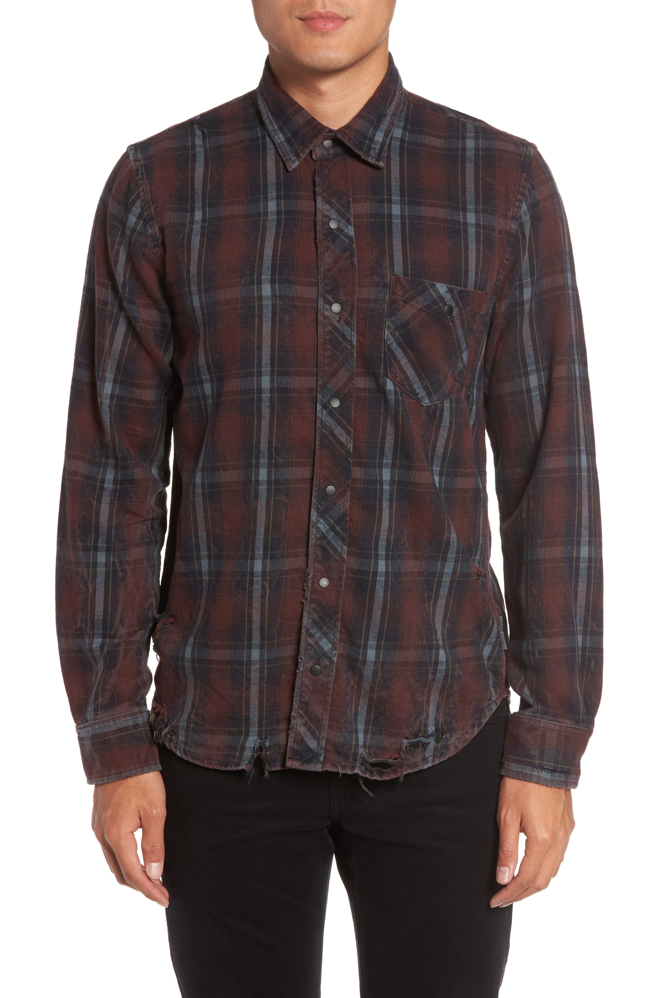 Slim Fit Plaid Sport Shirt,                             Main thumbnail 2, color,