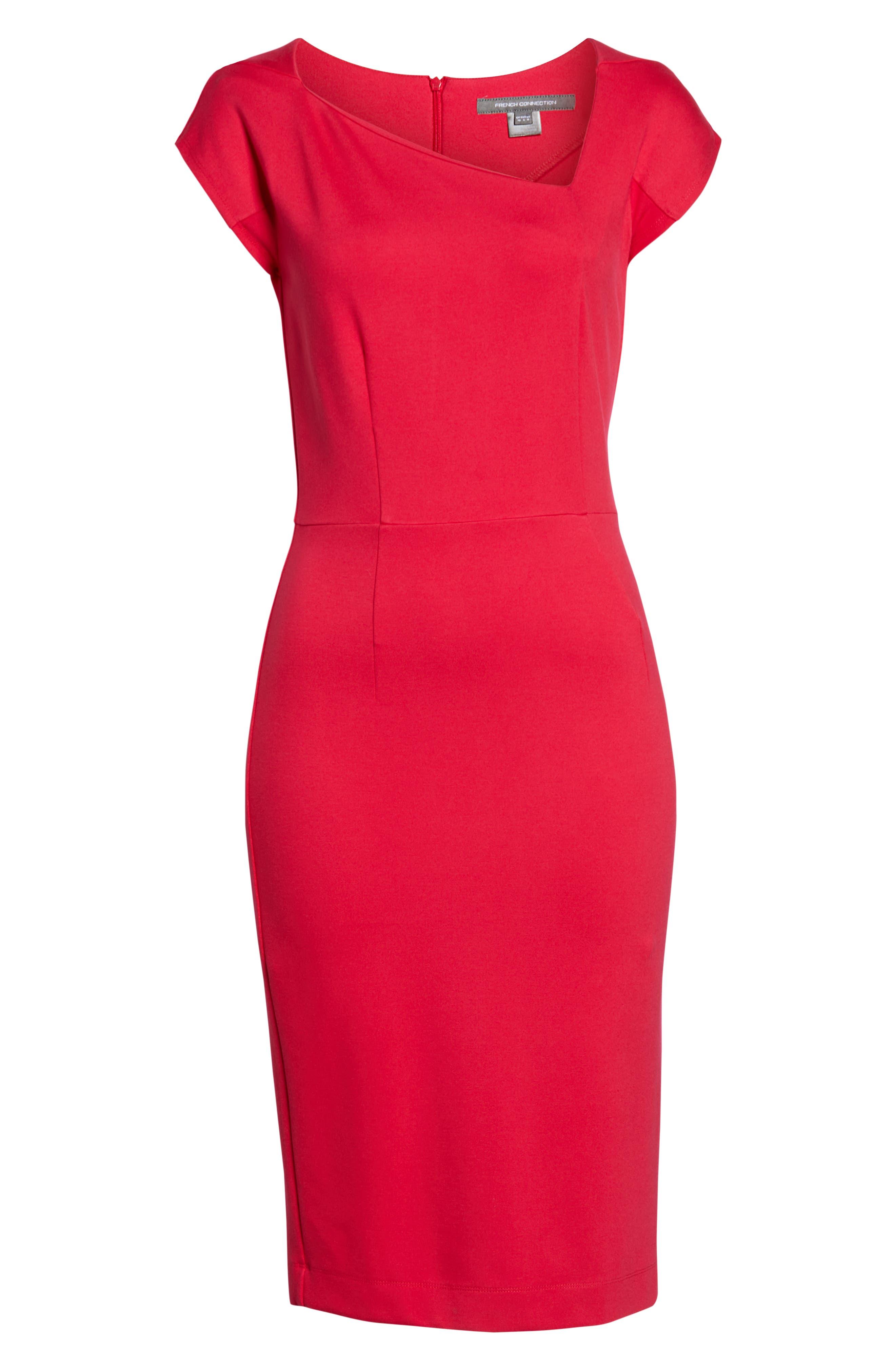Lula Sheath Dress,                             Alternate thumbnail 7, color,                             WATERMELON