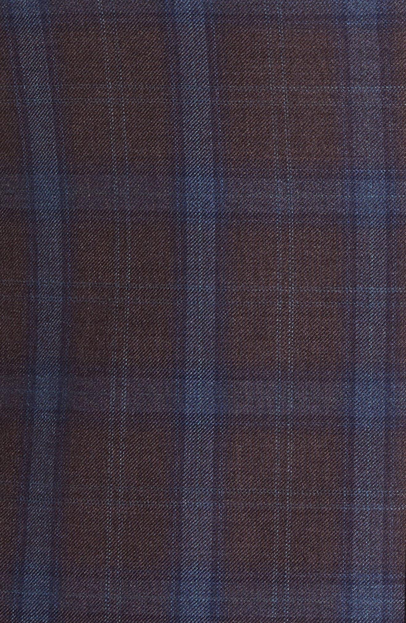 Jay Trim Fit Plaid Wool Sport Coat,                             Alternate thumbnail 6, color,                             932