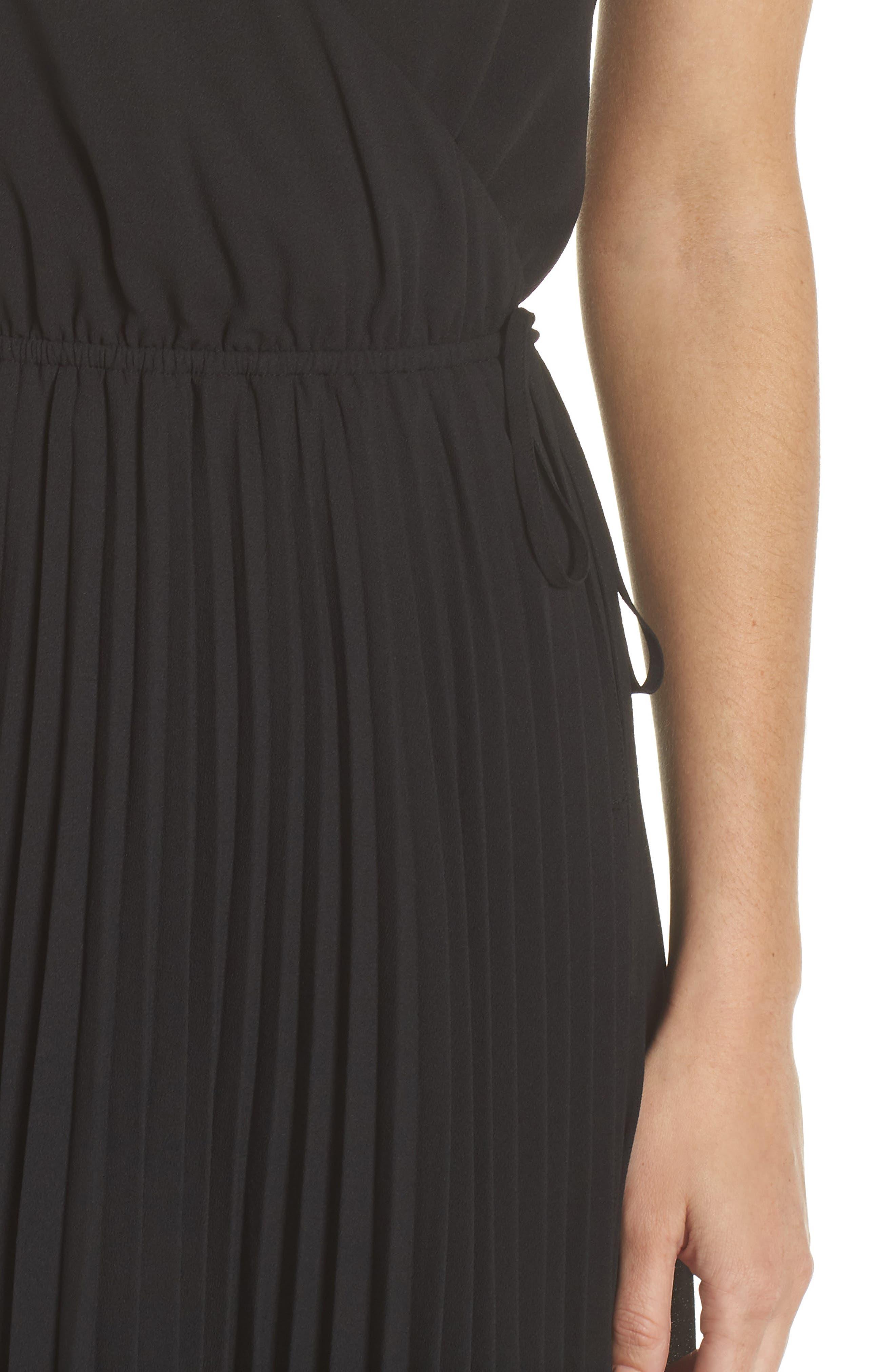 Lily Pond Faux Wrap Dress,                             Alternate thumbnail 4, color,                             001